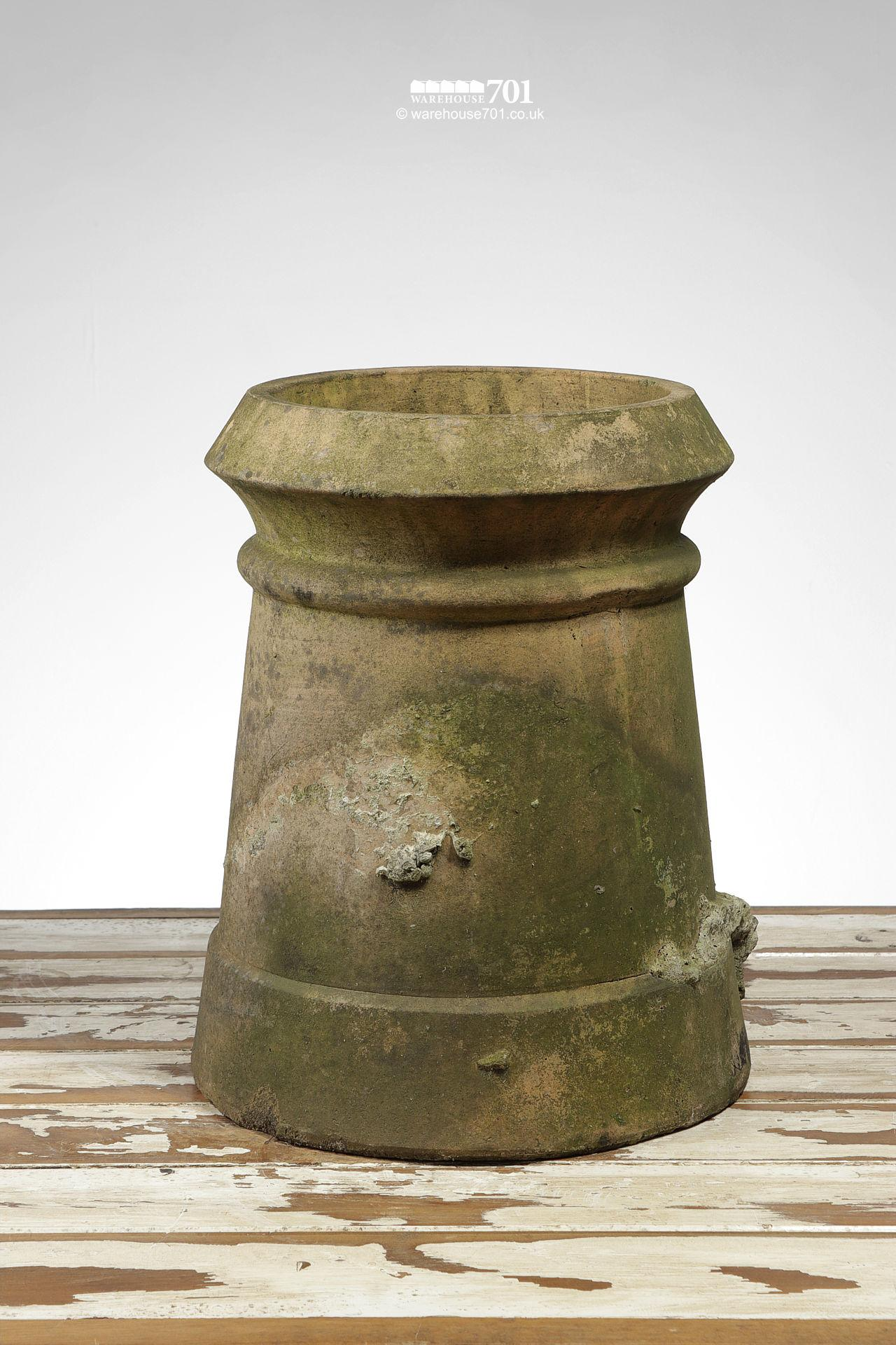 Salvaged Short Buff Cannon Chimney Pot #2