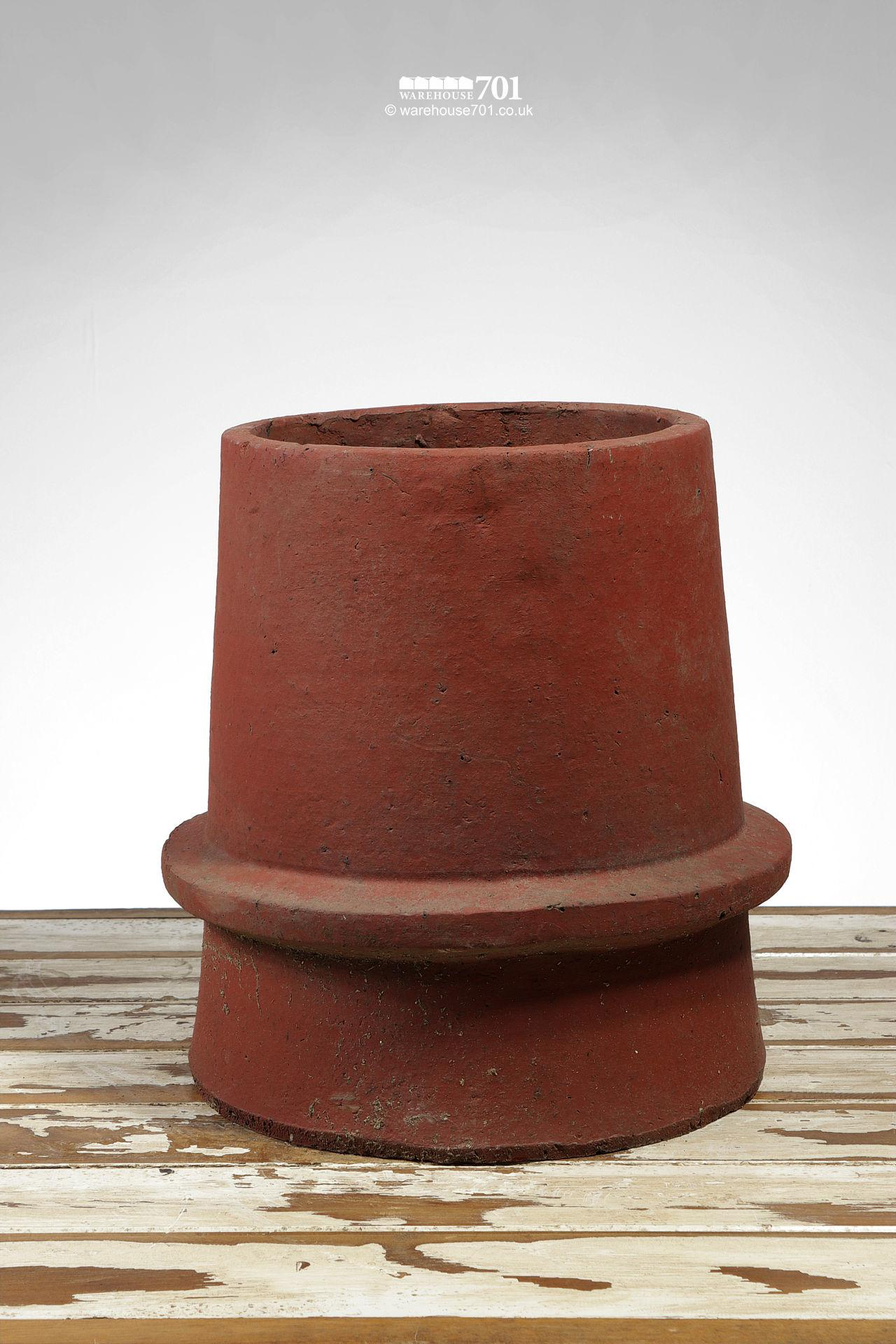Simple Conical Beaded Terracotta Chimney Pot