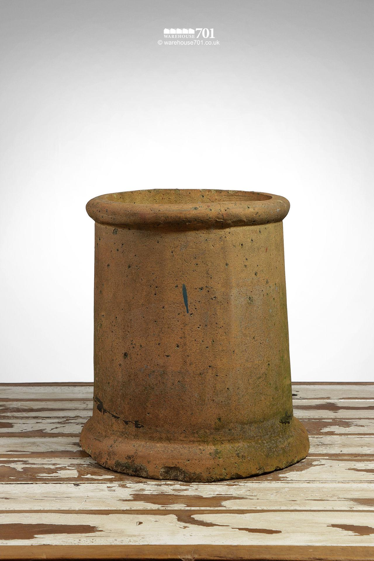 Vintage Straight Sided Rolled Rim Buff Chimney Pot #2
