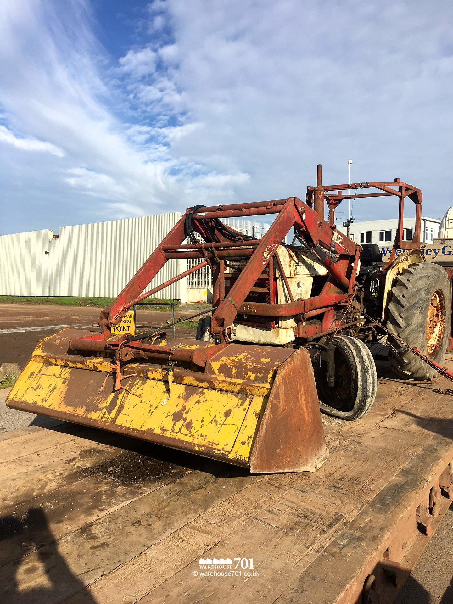 Salvaged David Brown Tractor Model 990 Selectormatic With Quickie Front Loader