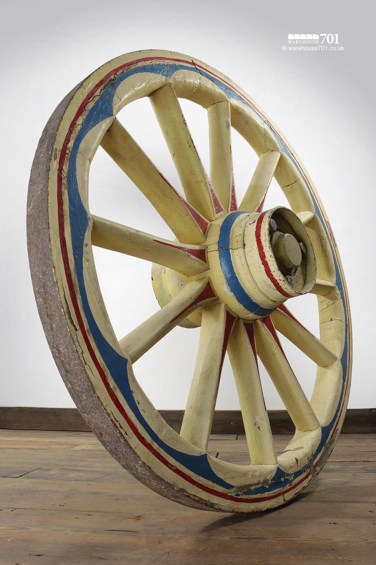 Ornate Hand Painted Cart or Waggon Wheel #4