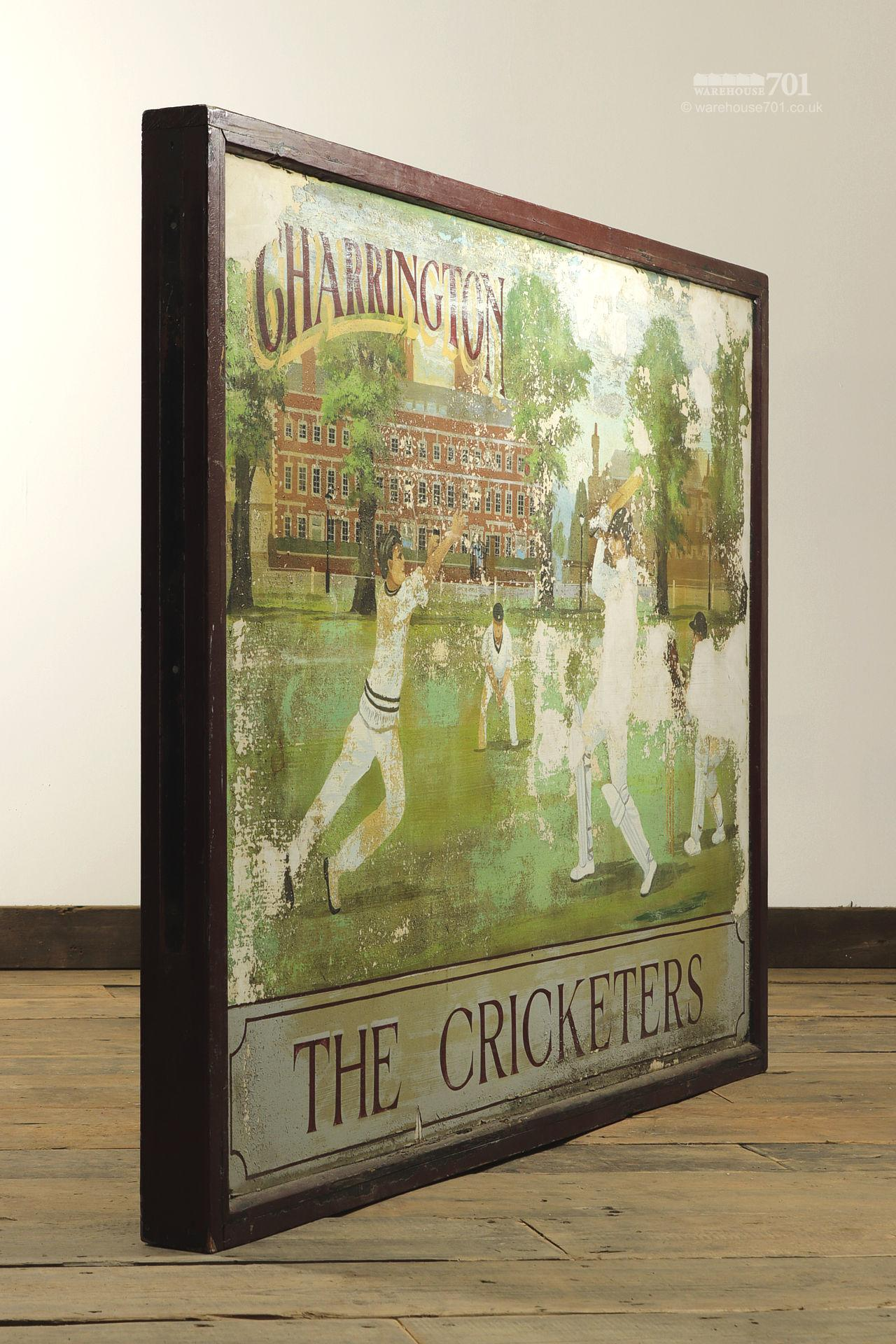 Salvaged Cricketers Double Sided Pub Sign #7