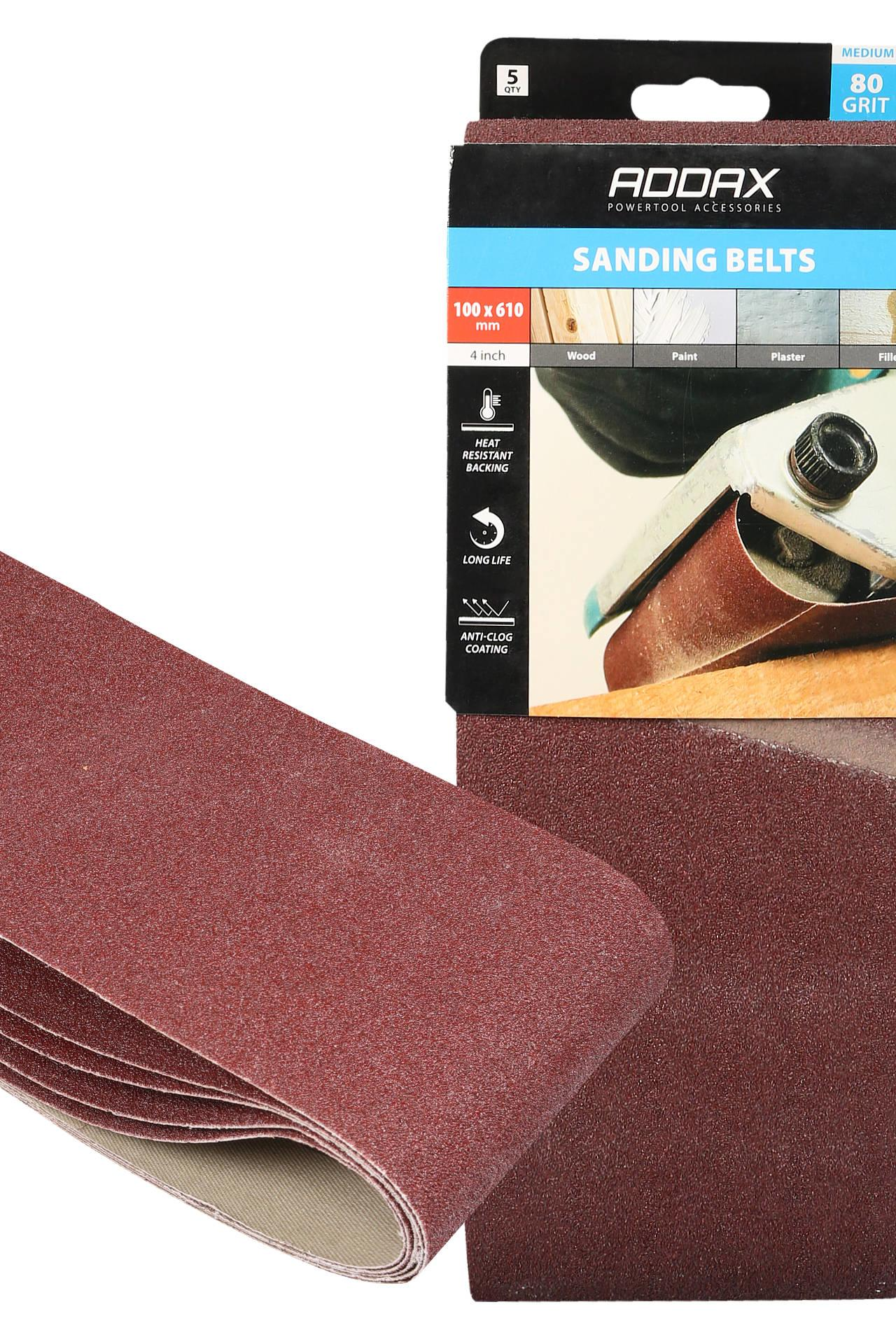 Addax Sanding Belts - Various Grit - Red #3