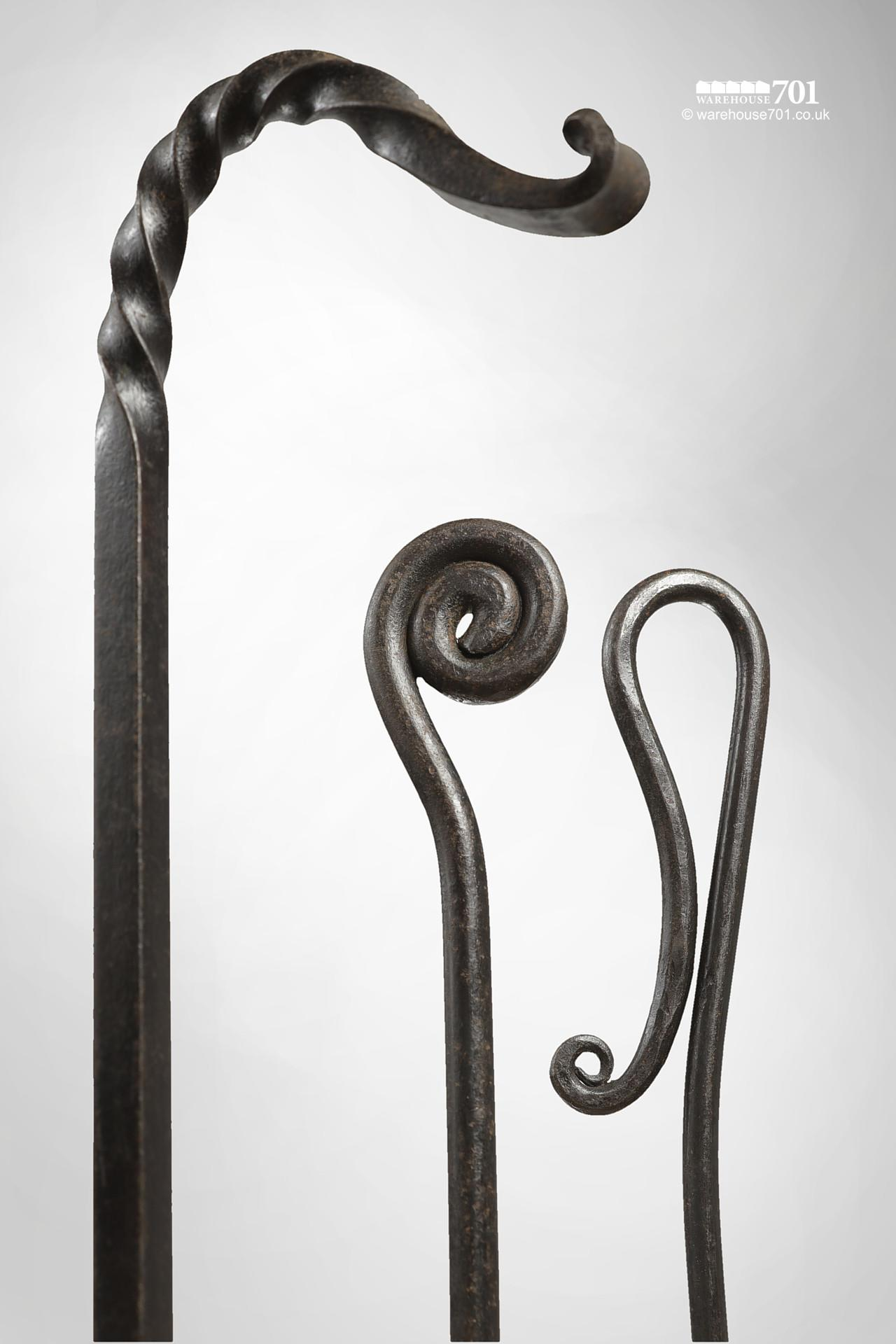 New Wrought Iron Blacksmith Made Decorative Fire Pokers #3