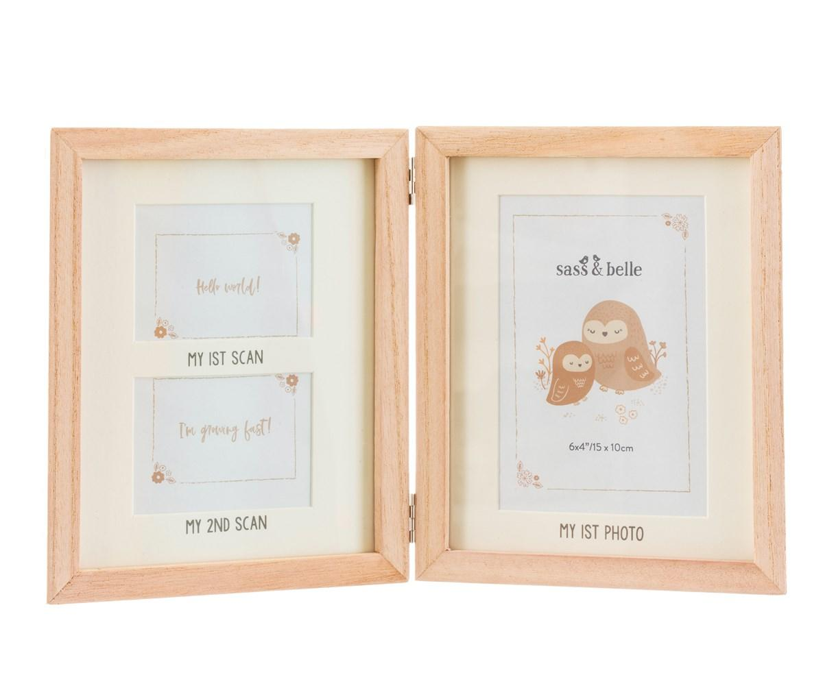 New Woodland Photo Frame for Two Baby Scans and One Photo #3