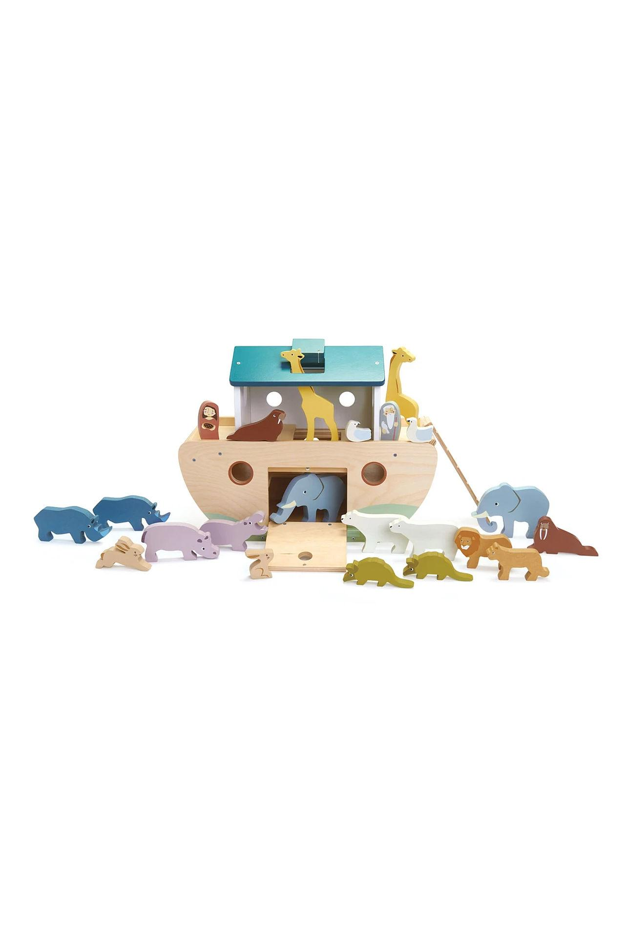 New Noah's Ark with 10 Pairs of Wooden Animals #4
