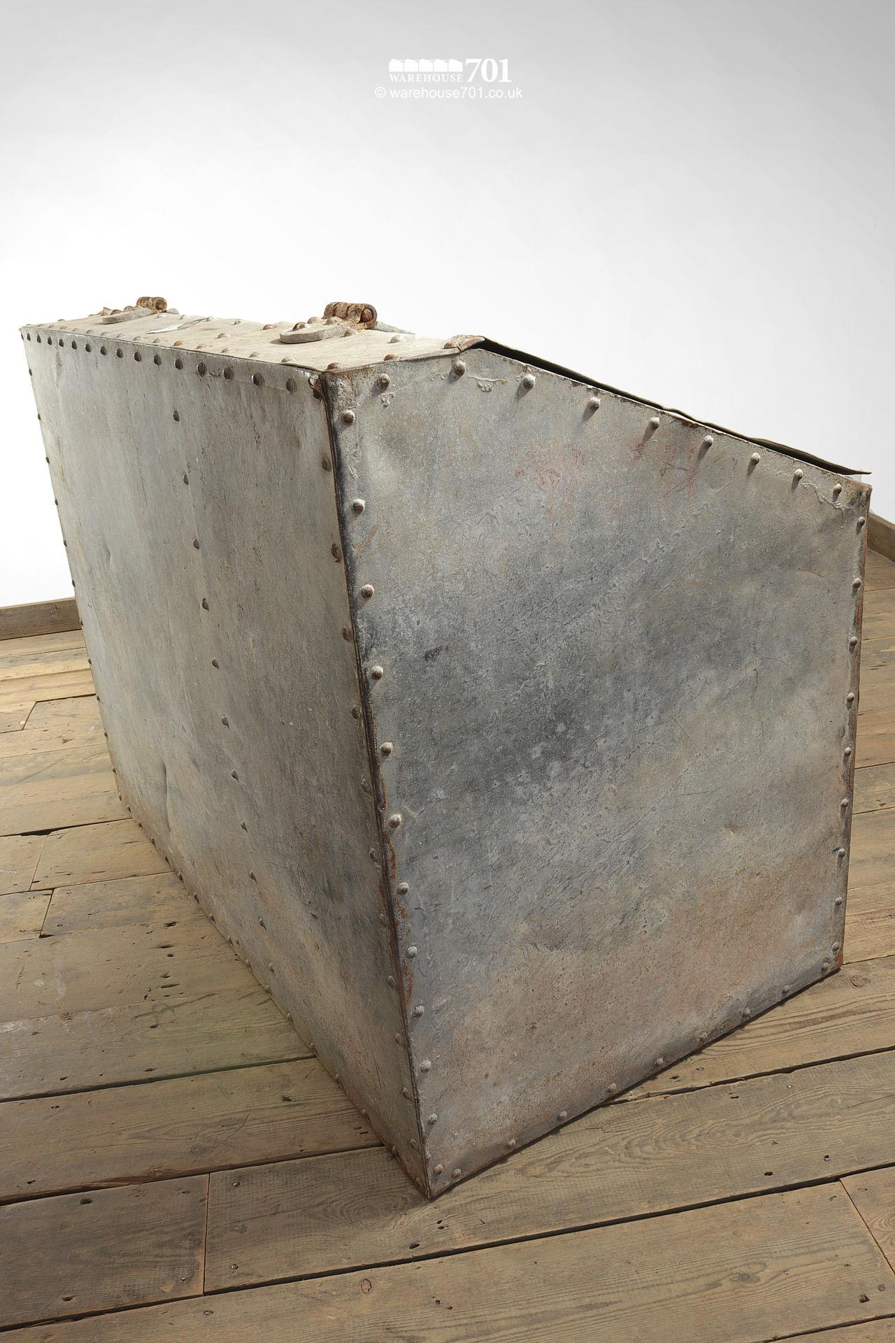 Reclaimed Riveted Galvanised Feed or Kindling and Wood Store #6