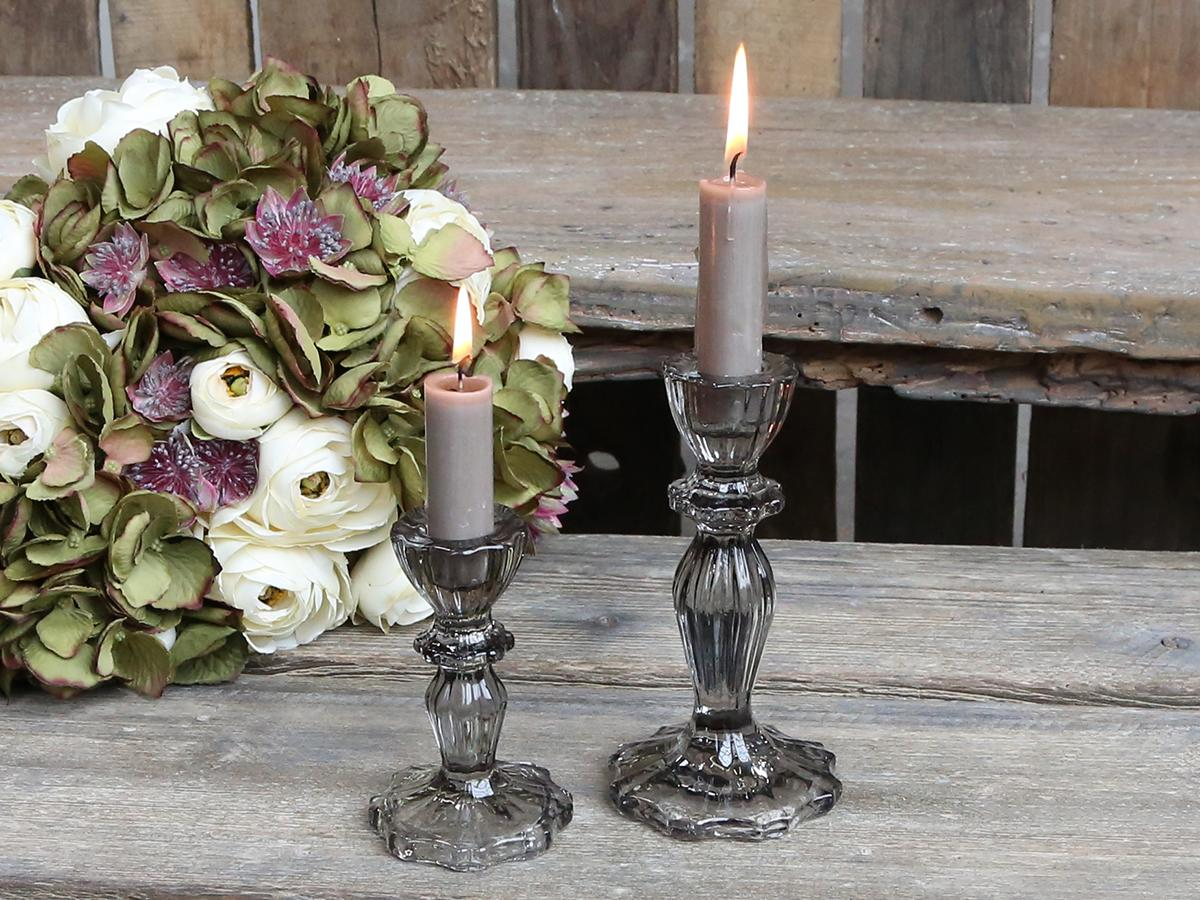 New Glass Candlestick with Lace Edge