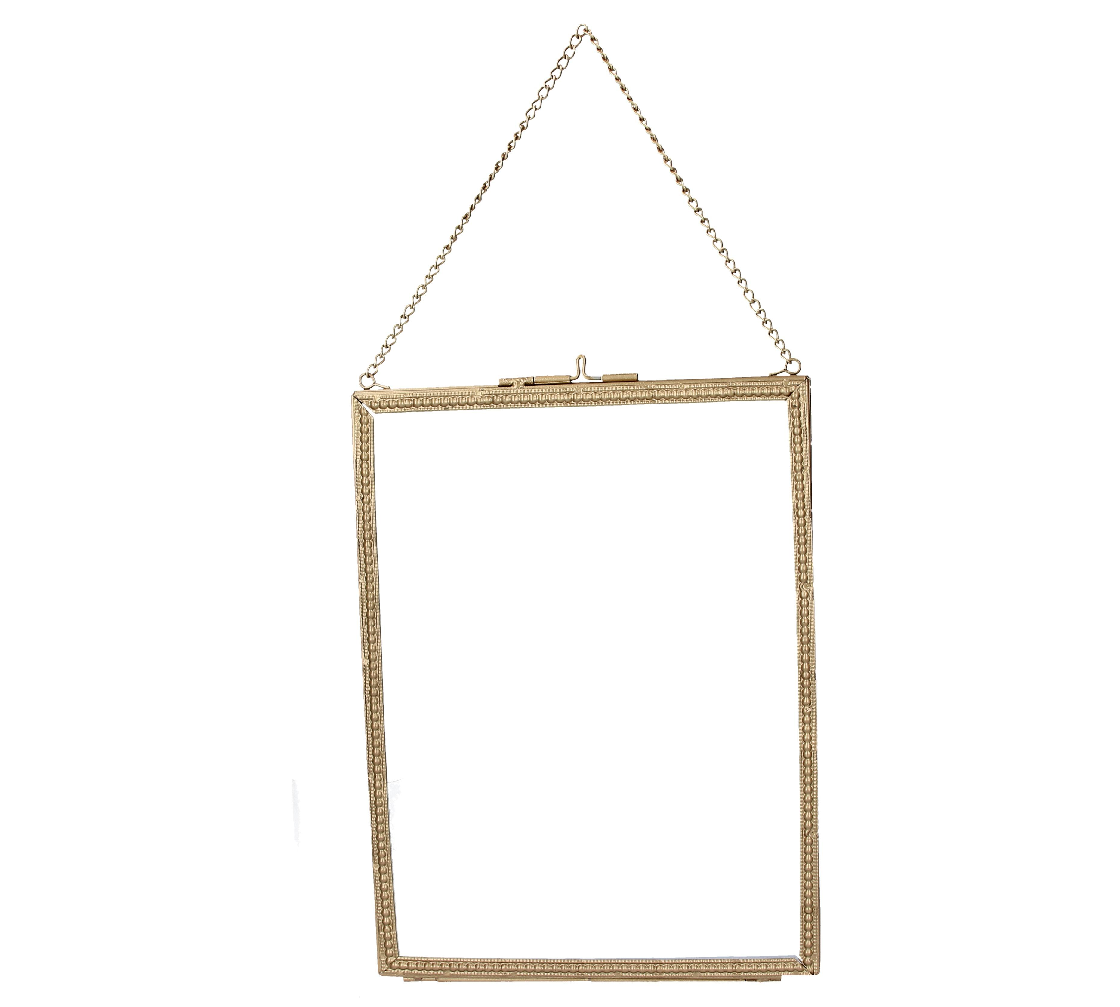 NEW Gold Beaded Edge hanging Picture Frame