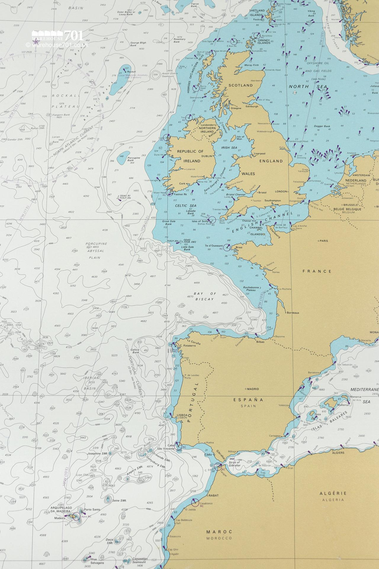 Extensive Collection of Original 1960s Nautical Charts From Around The World #8