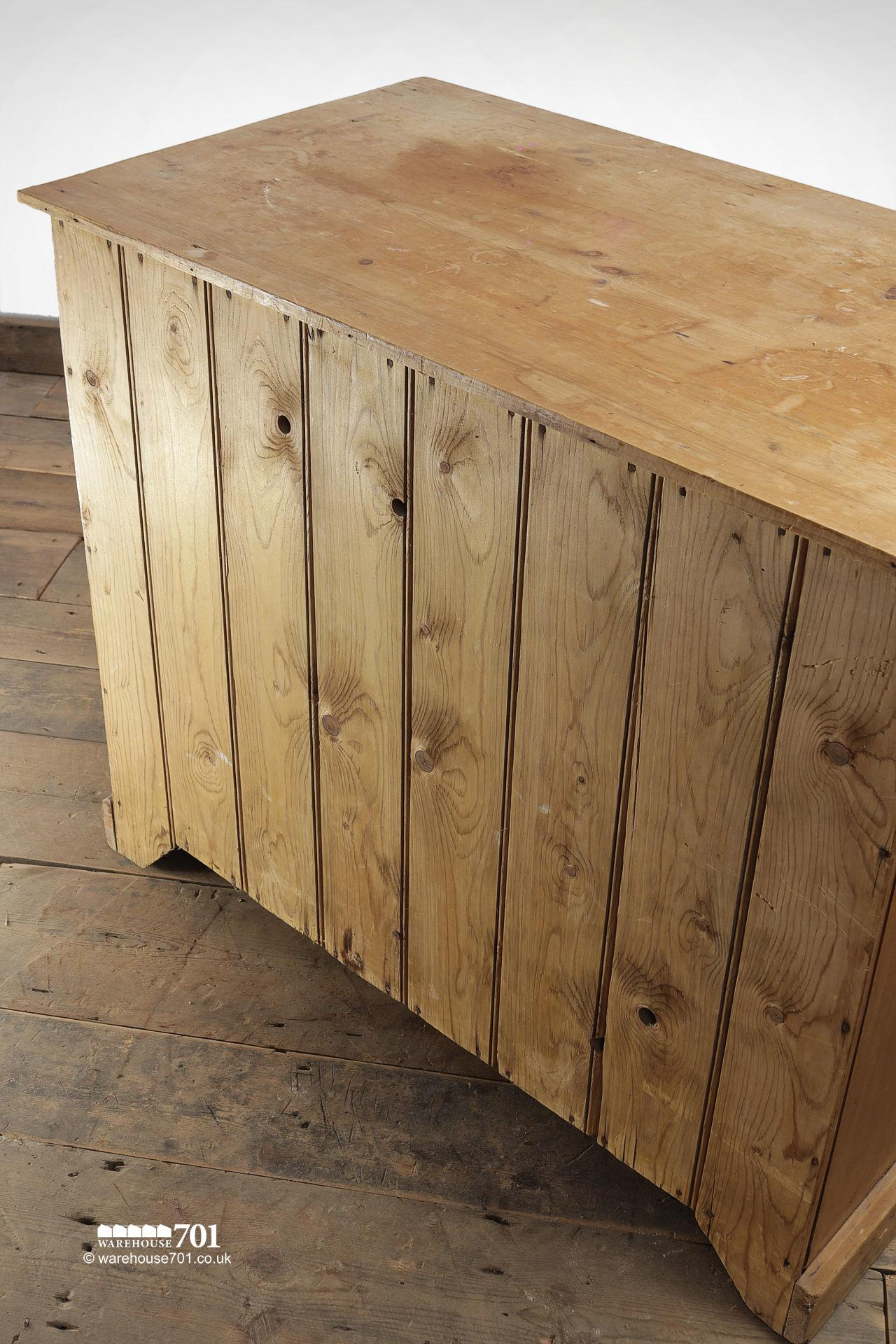 Vintage Three Drawer Stripped Pine Chest of Drawers #6