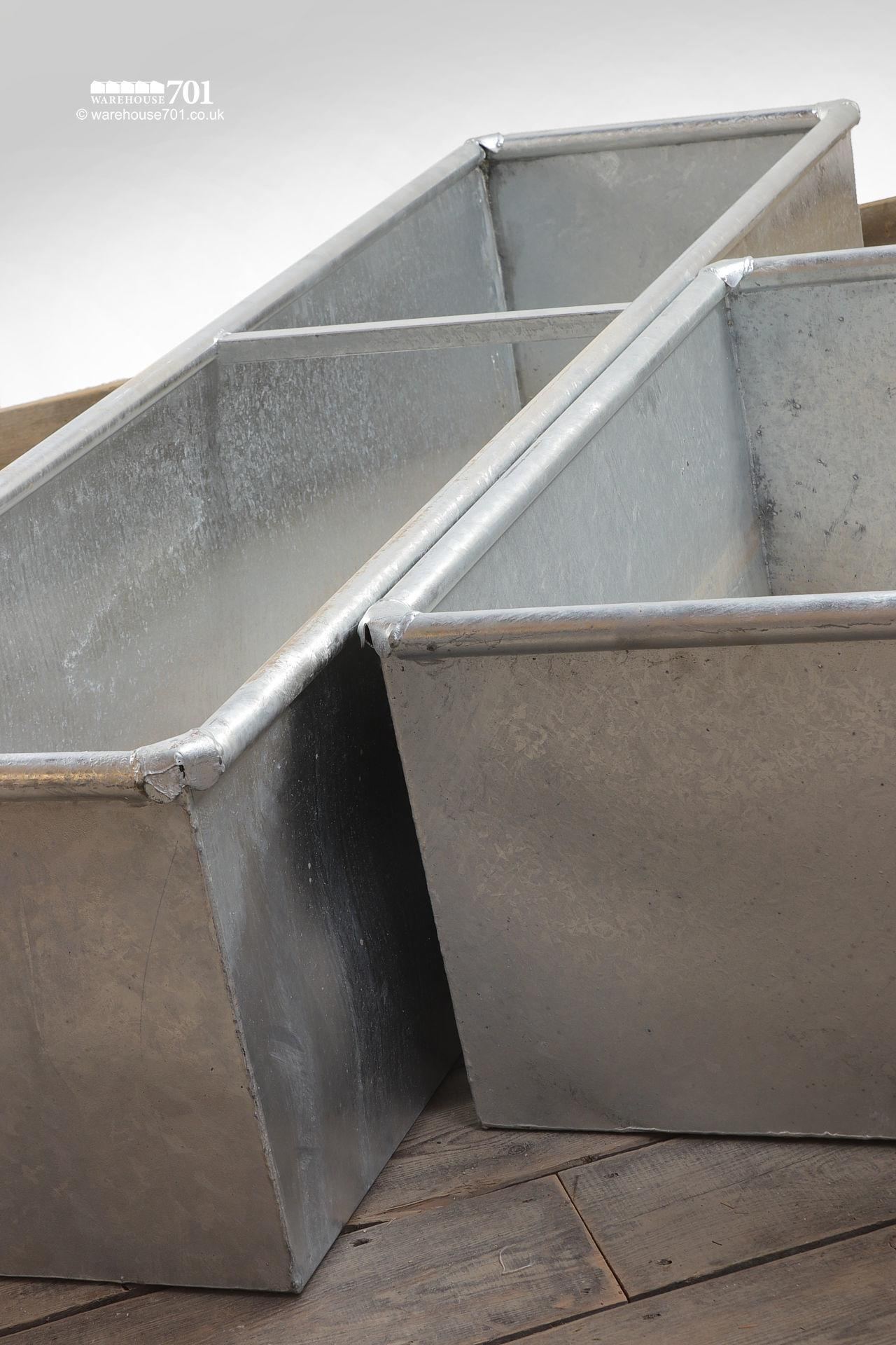 New Galvanised Metal Troughs or Planters #4