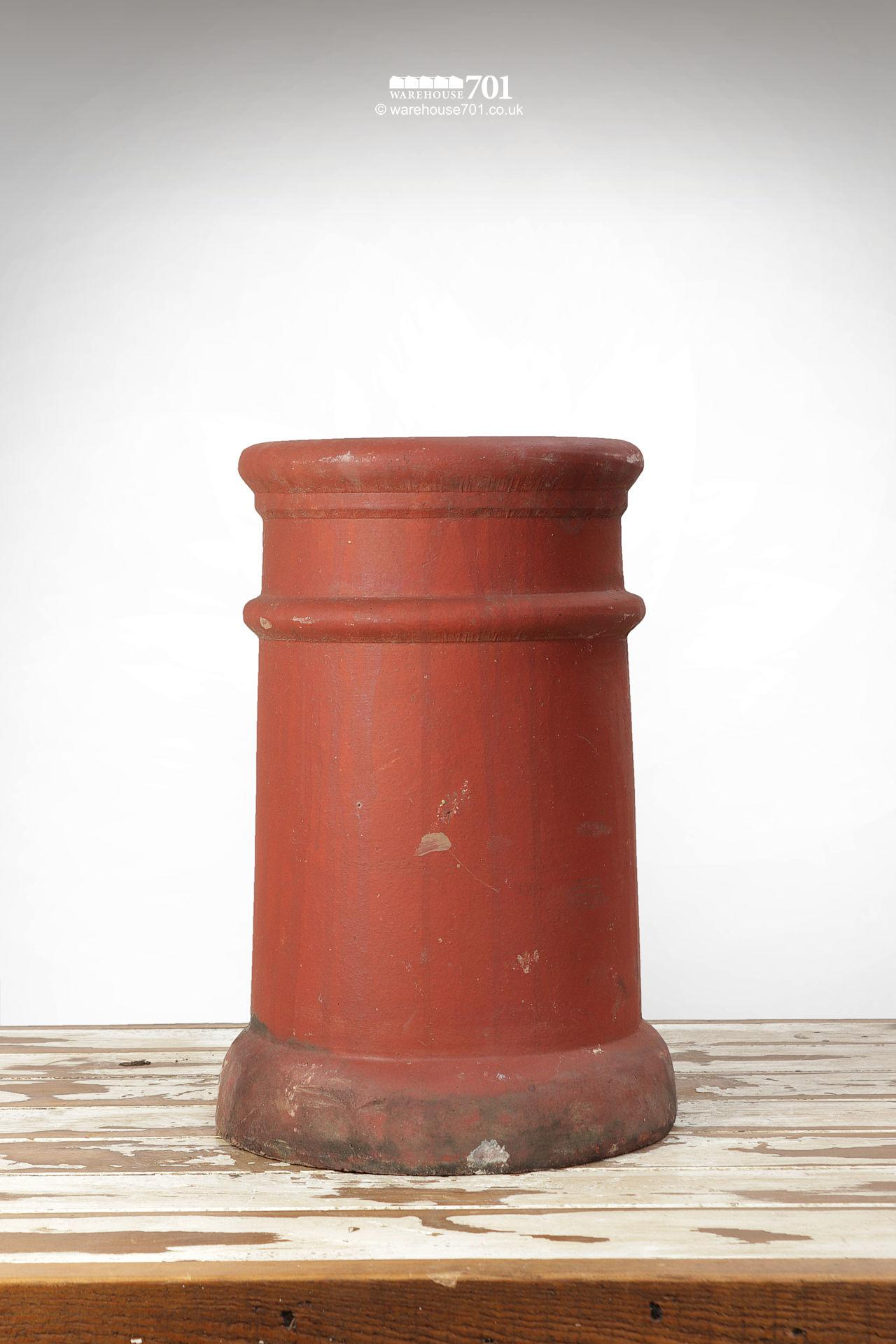 Fine Old Pair of Ribbed Red Terracotta Chimney Pots #5