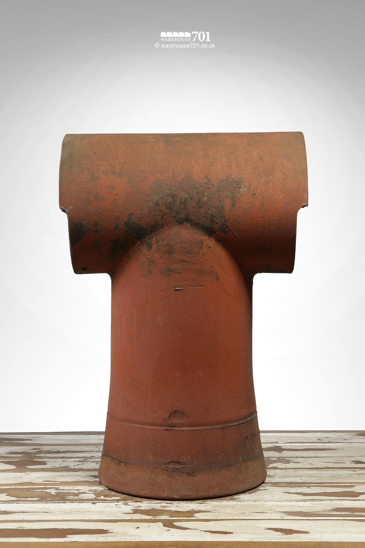 Reclaimed Tee-Top Terracotta Chimney Pot #2