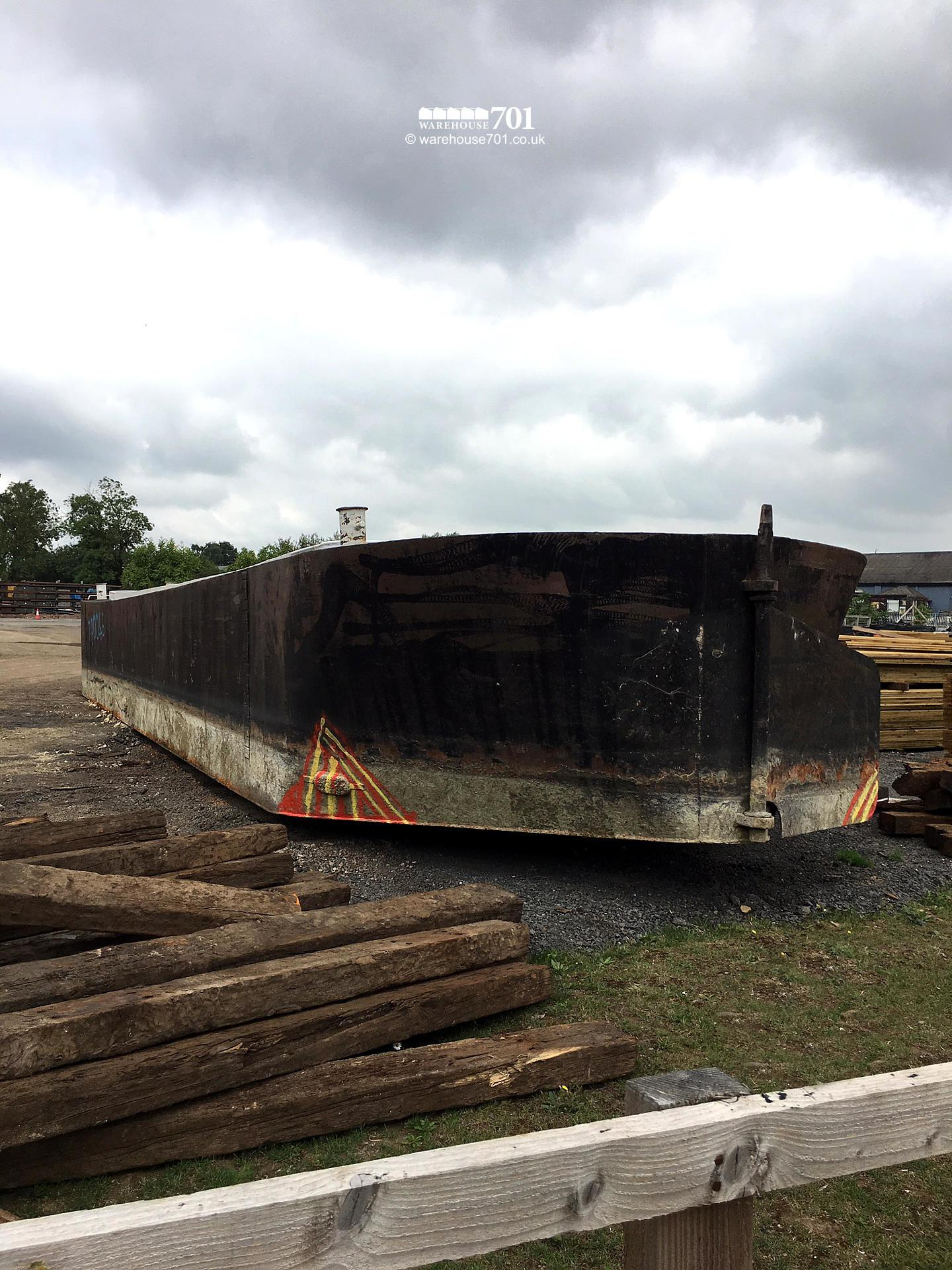 Salvaged Large Steel Hull Barge or Boat