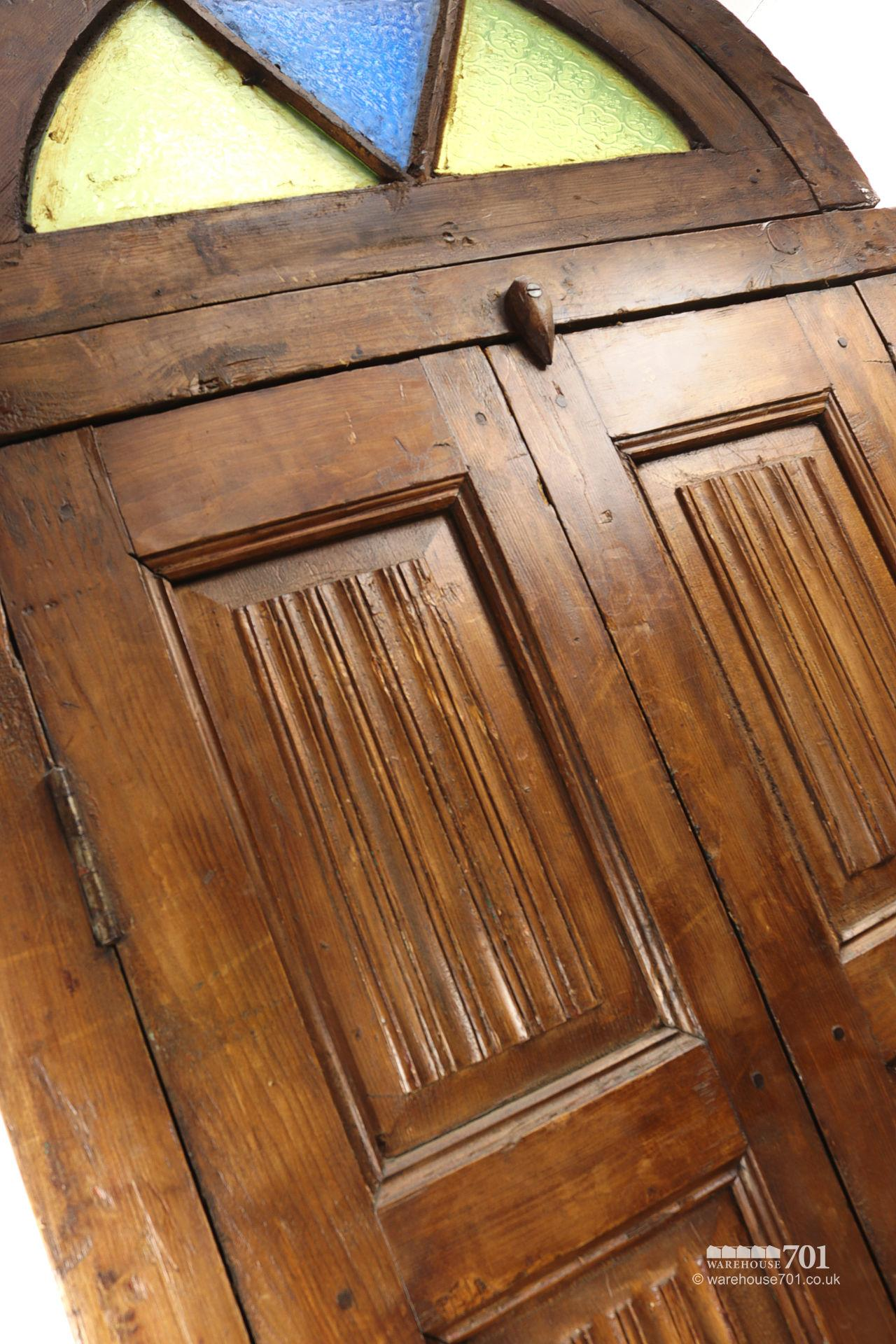 Reclaimed Middle-Eastern Carved Arch Top Doors or Shutters #3