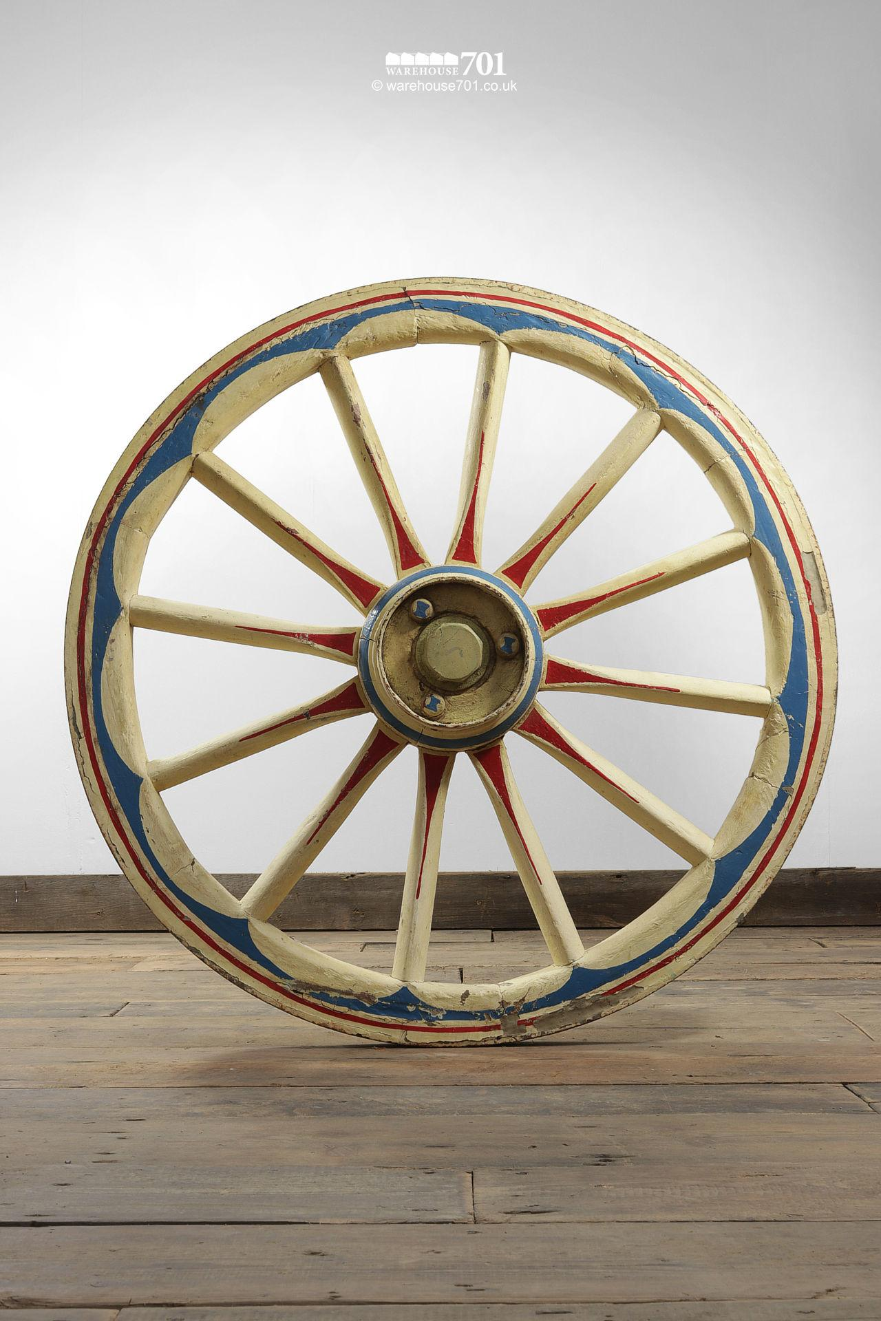 Ornate Hand Painted Cart or Waggon Wheel #5