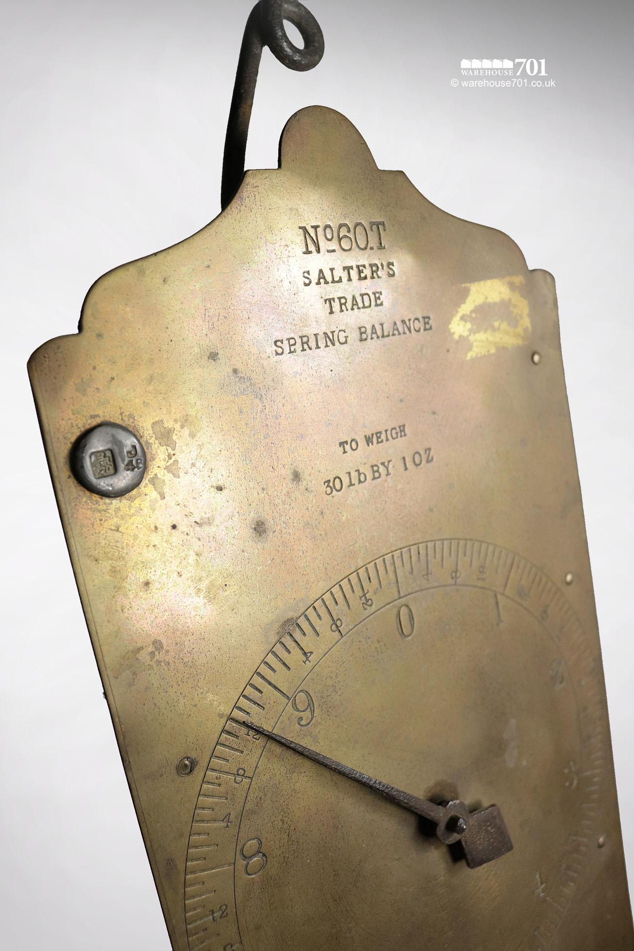 Vintage Salter's No.60.T Spring Balance Scales #4