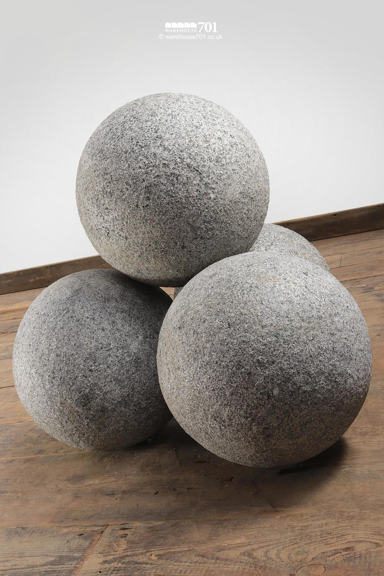 Granite Balls or Stone Spheres for Gate Pillars and Gardens #2