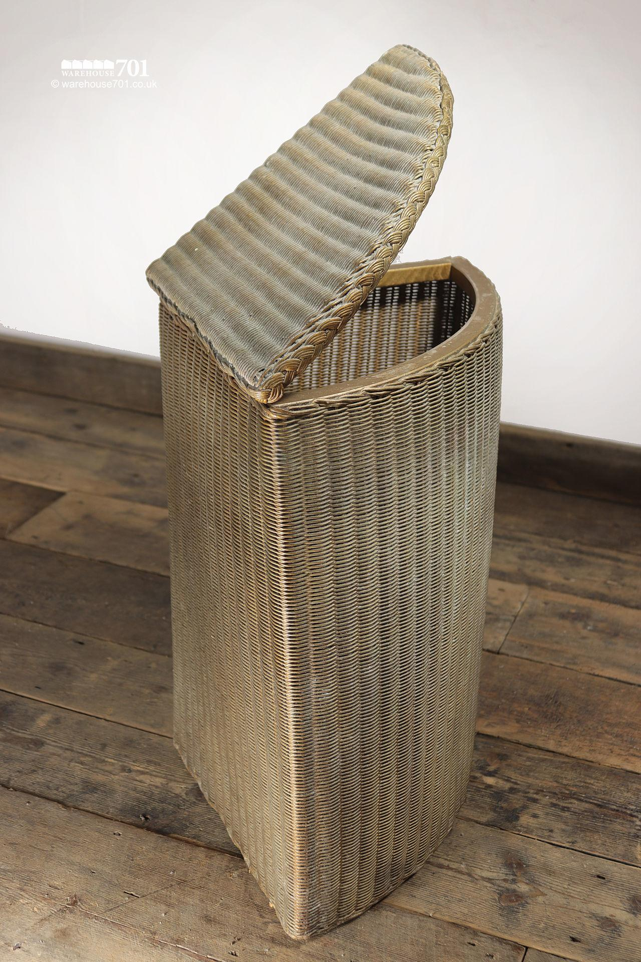 Authentic Period Gold Lloyd Loom Quadrant Laundry Basket #3