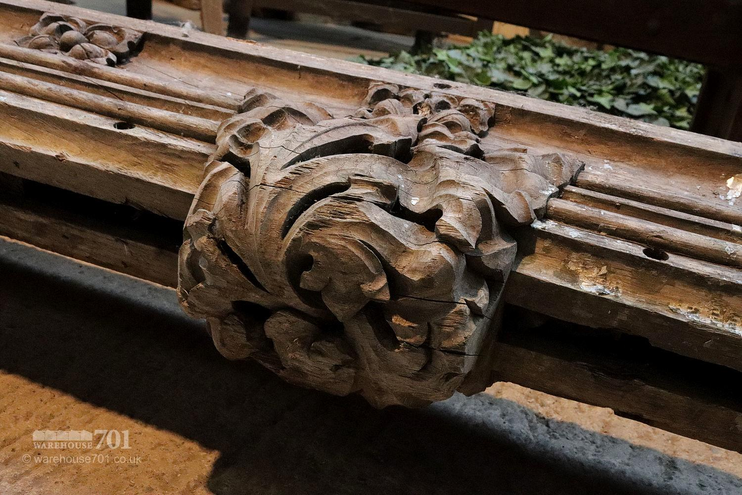 Carved Wooden Beam