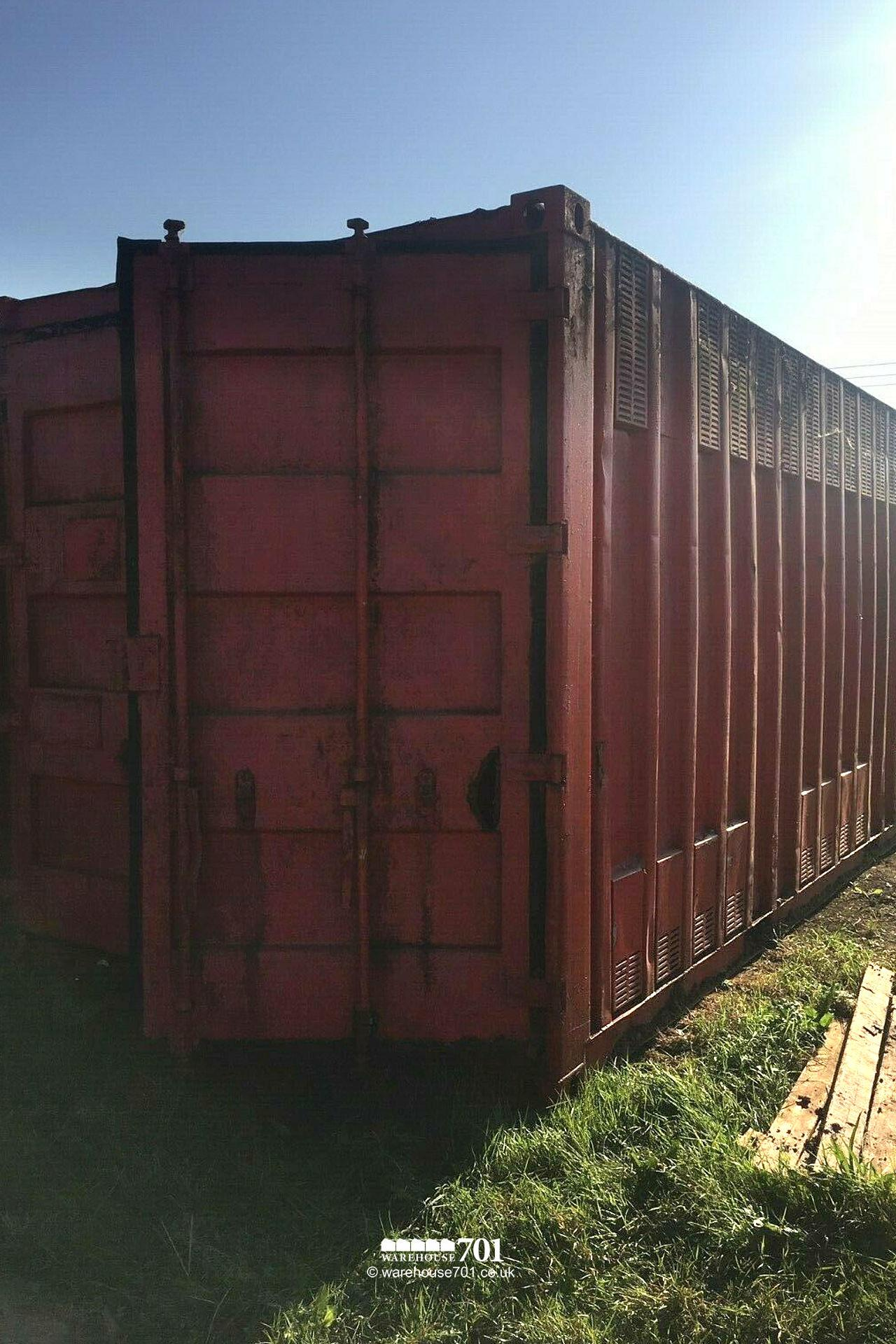 Salvaged 20ft Storage Shipping Container, Red