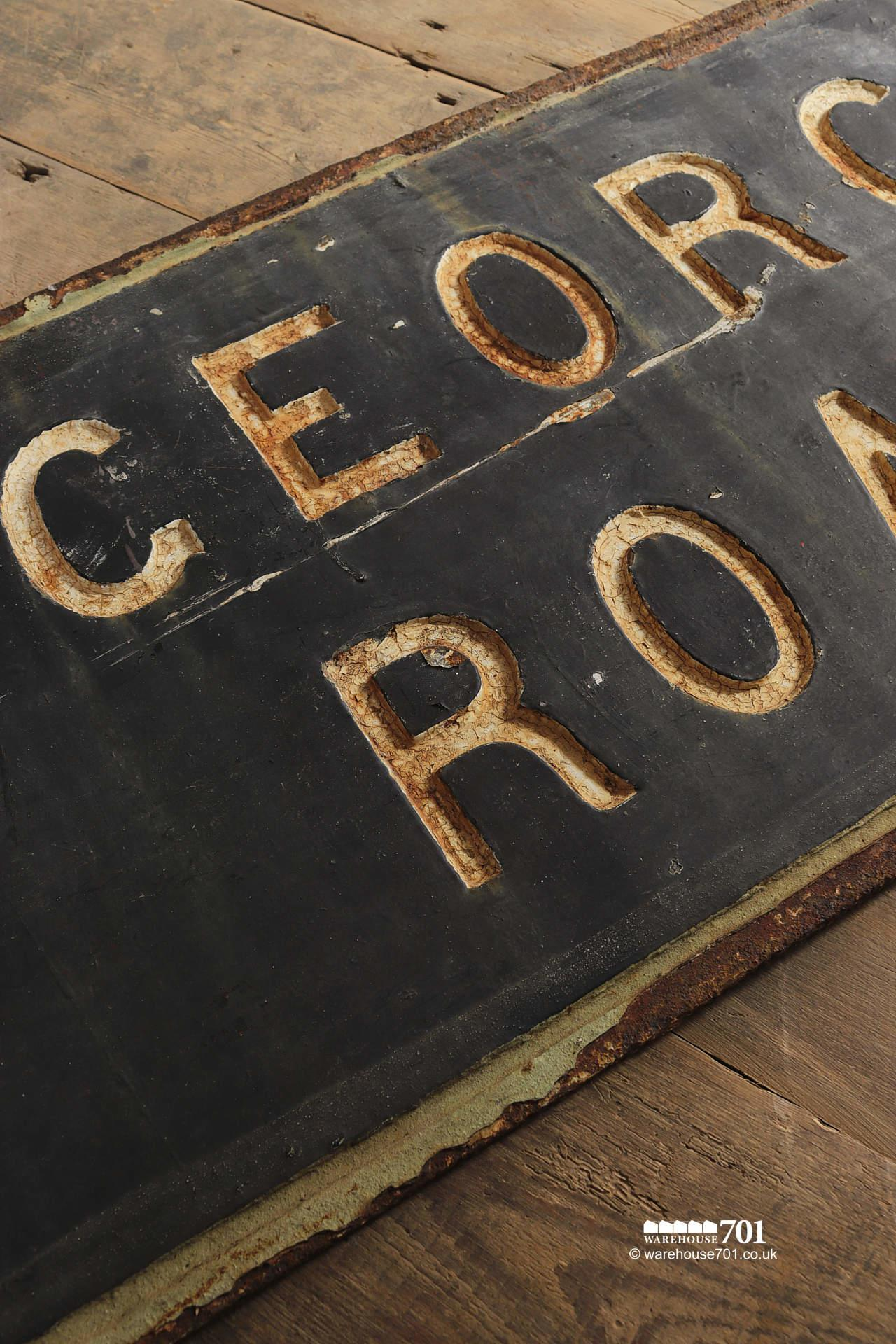 Lovely Old Cast Iron St Georges Road or Street Sign #4