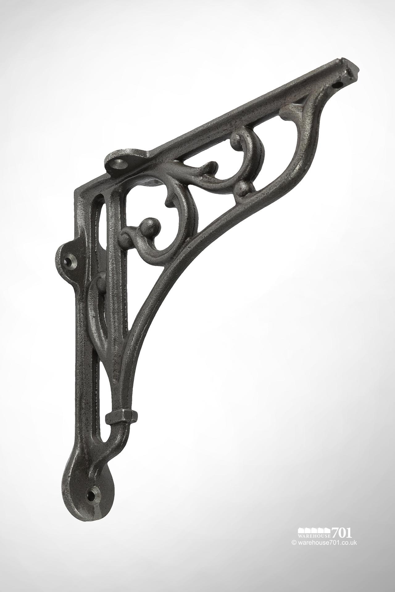 New Cast Iron Shelf or Wall Bracket with a Decorative Scroll Design