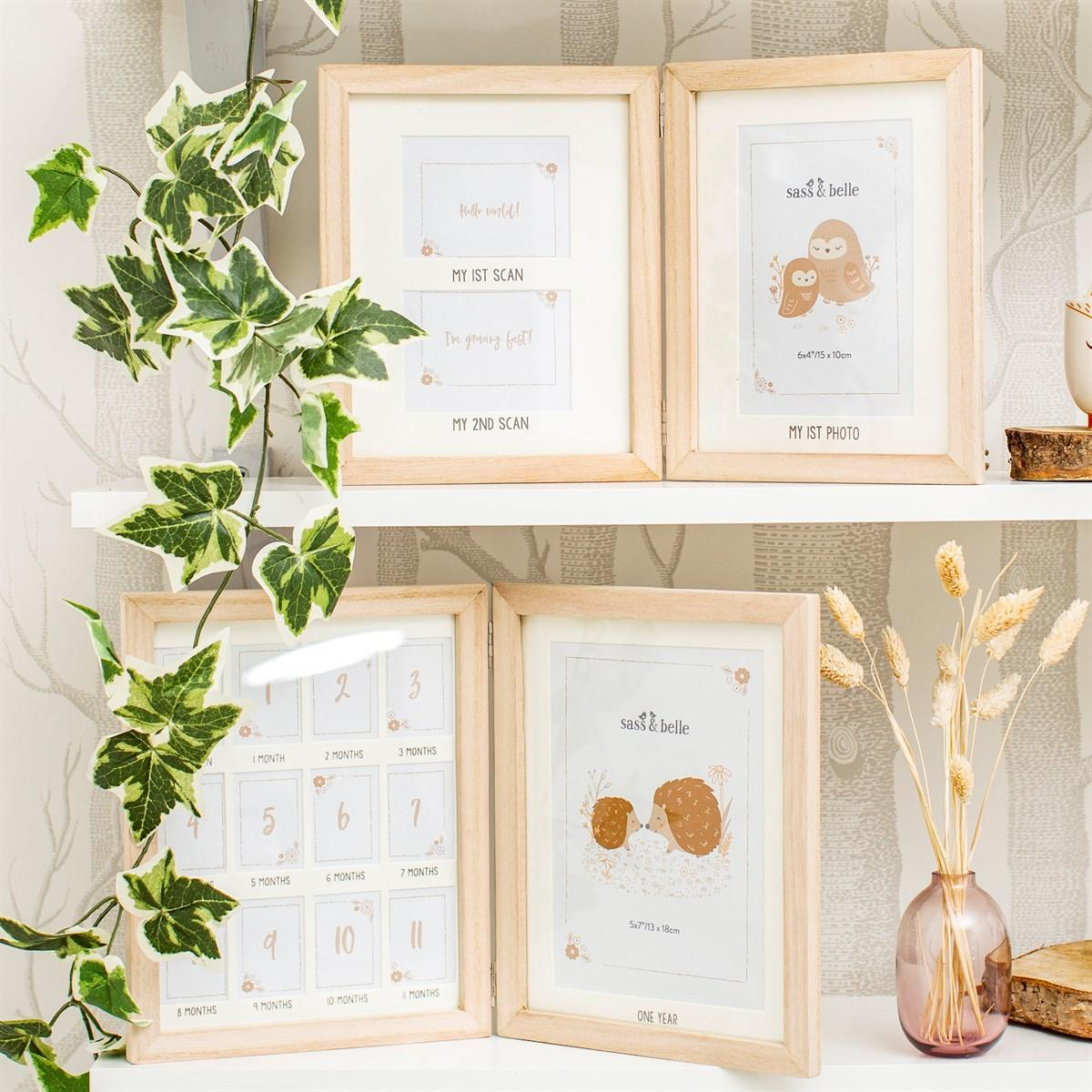 New Woodland Photo Frame for Two Baby Scans and One Photo
