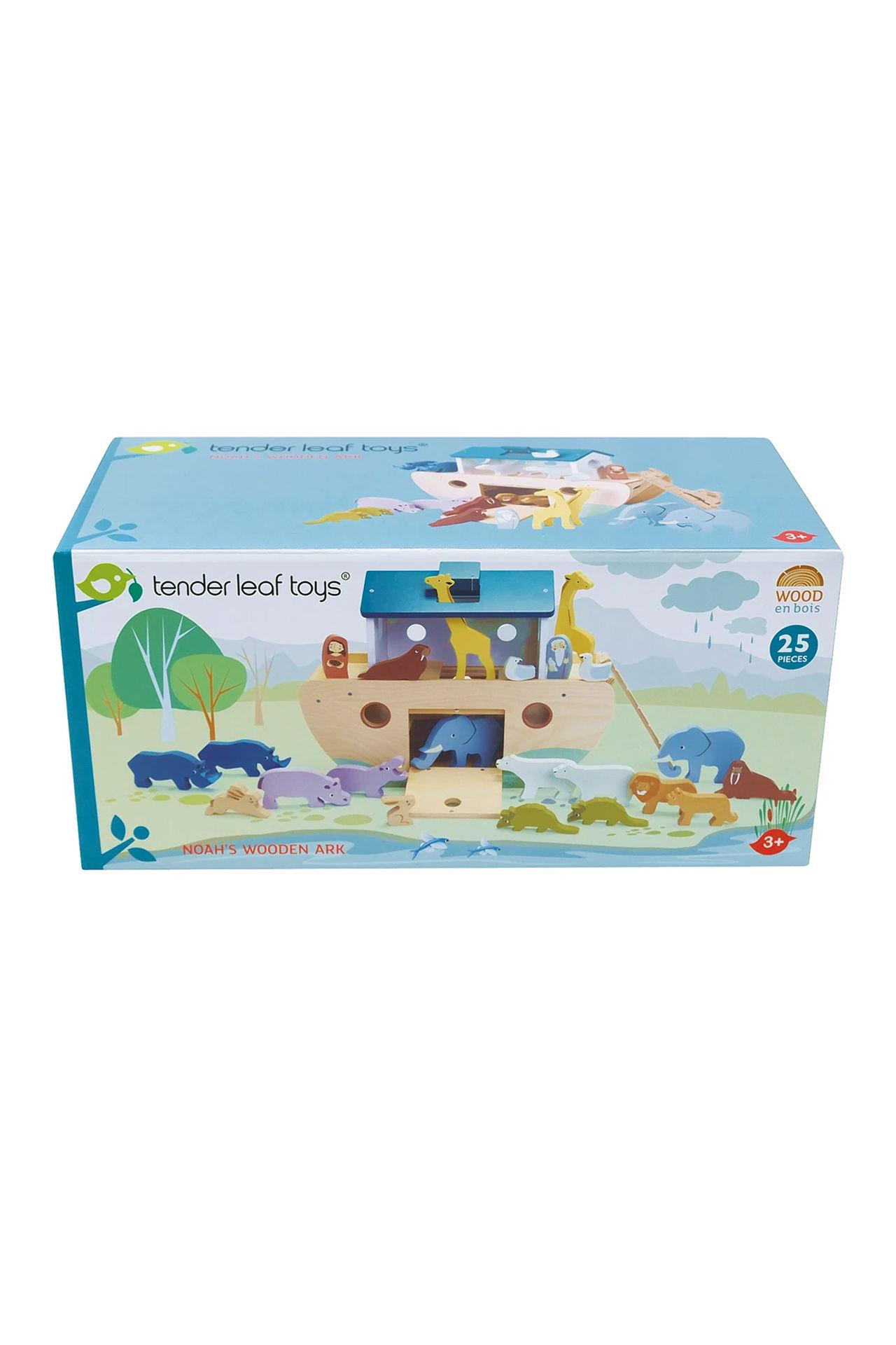 New Noah's Ark with 10 Pairs of Wooden Animals #5