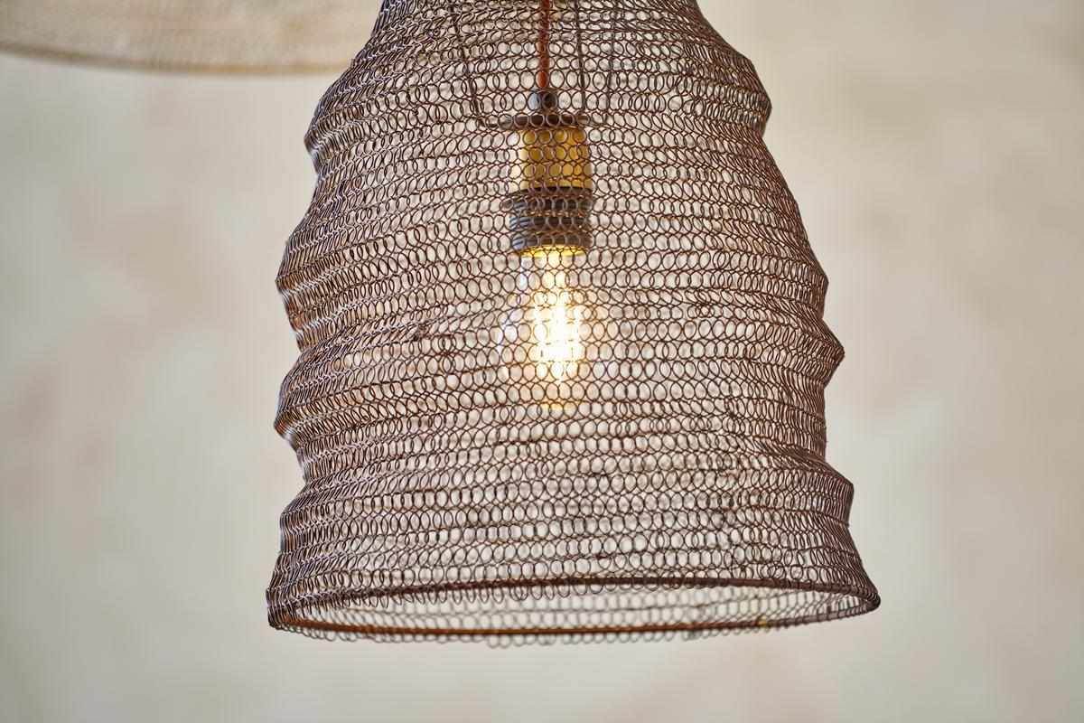NEW Jatani Wire Lampshade Antique Brass #4