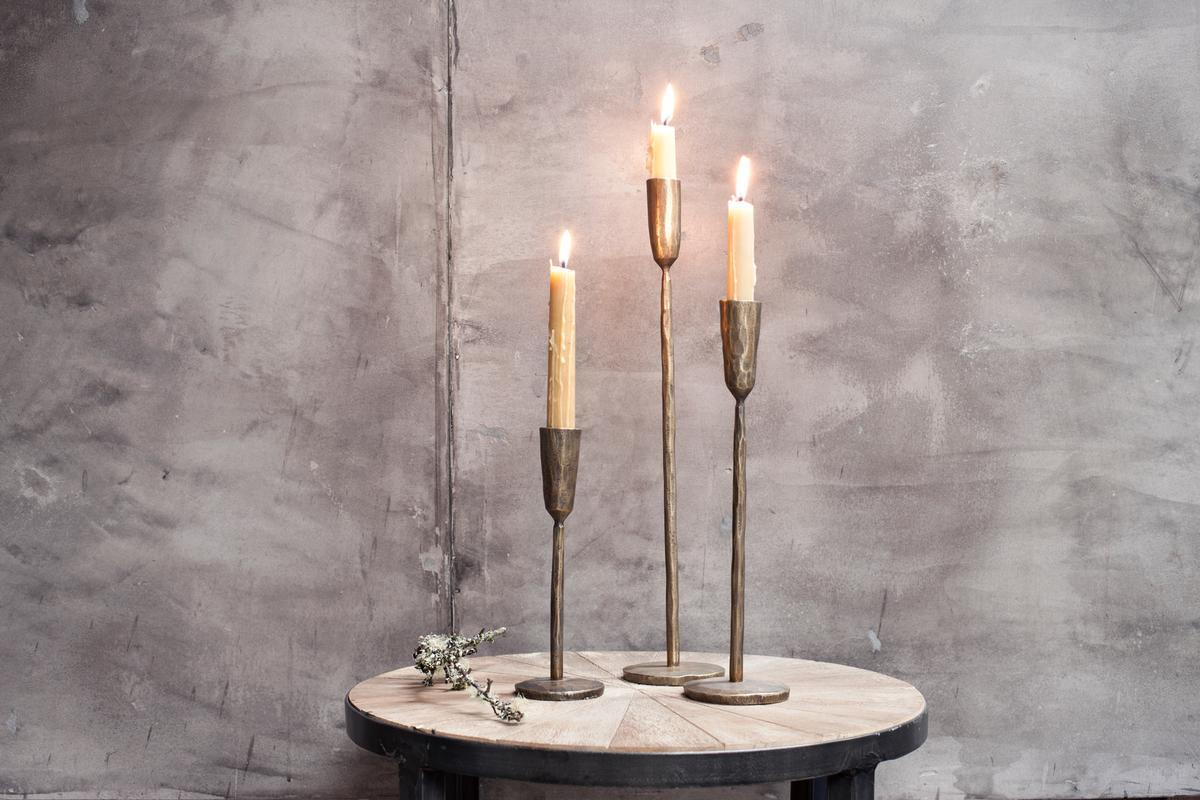 NEW Mbata Brass Candlestick in Antique Black Finish #2