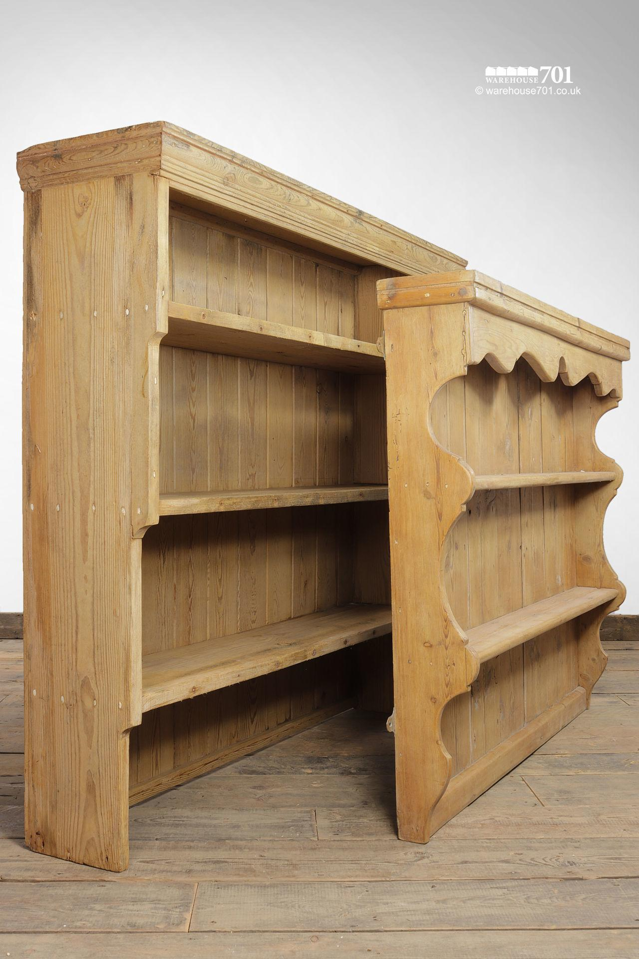 Vintage Honey Pine Welsh Dresser Tops or Shelves