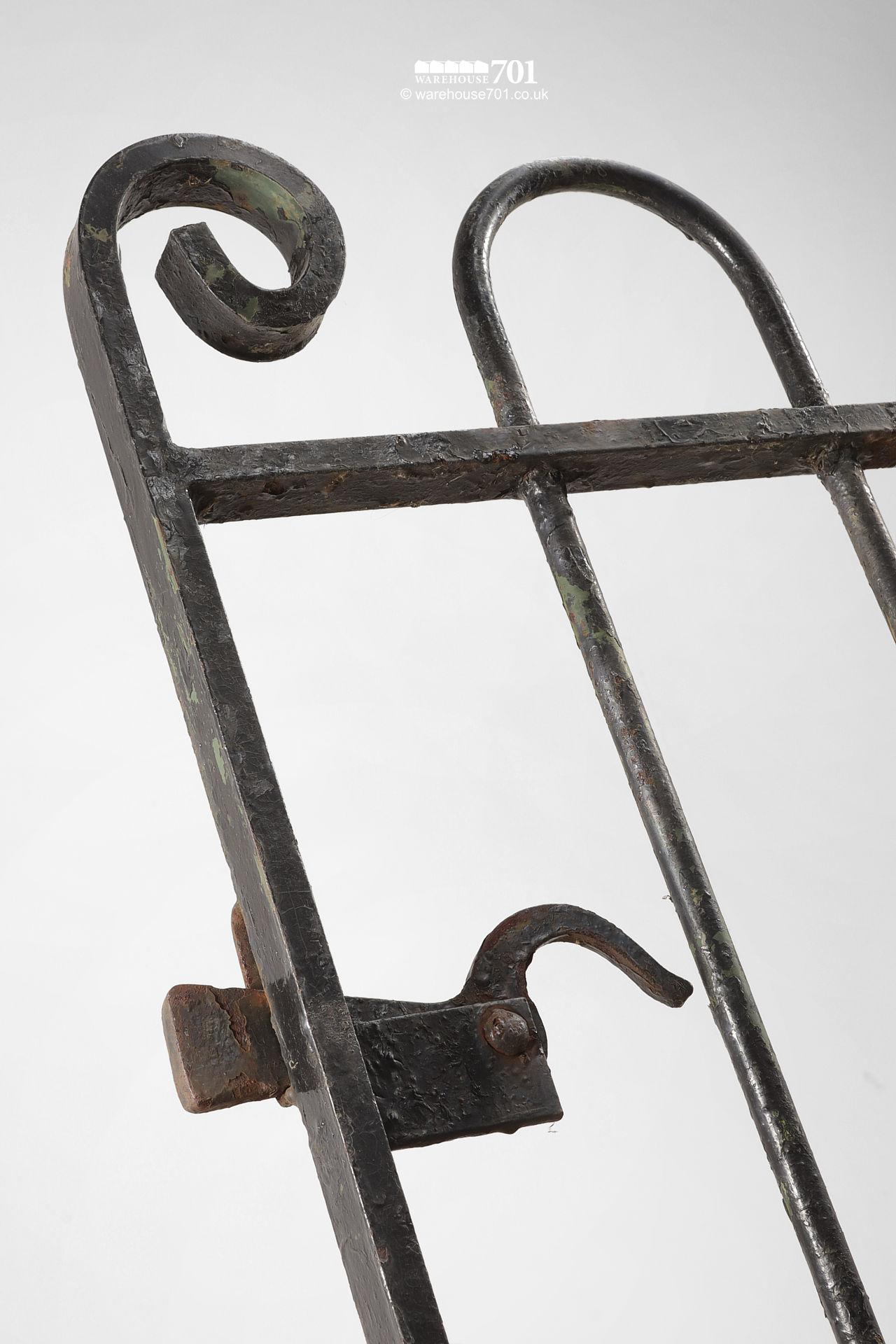 Reclaimed Hoop and Scroll Wrought Iron Pedestrian Gate #2