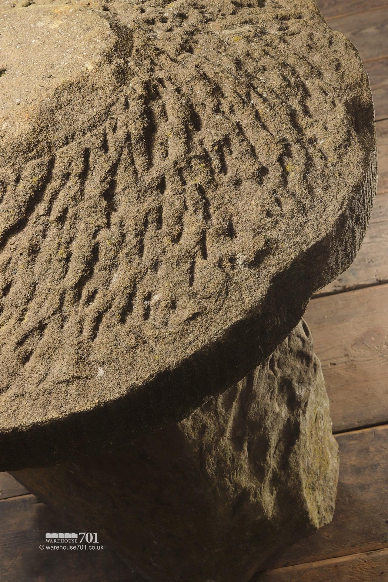 Old Hand Carved Herefordshire Green Staddle Stone #3
