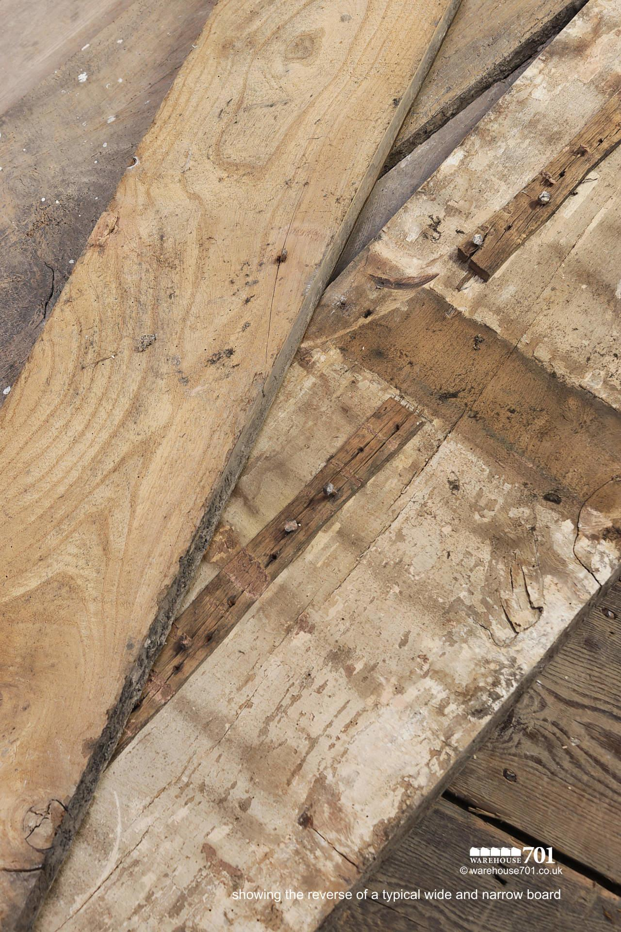 Beautiful Authentic 18th Century Elm Plank Flooring #5