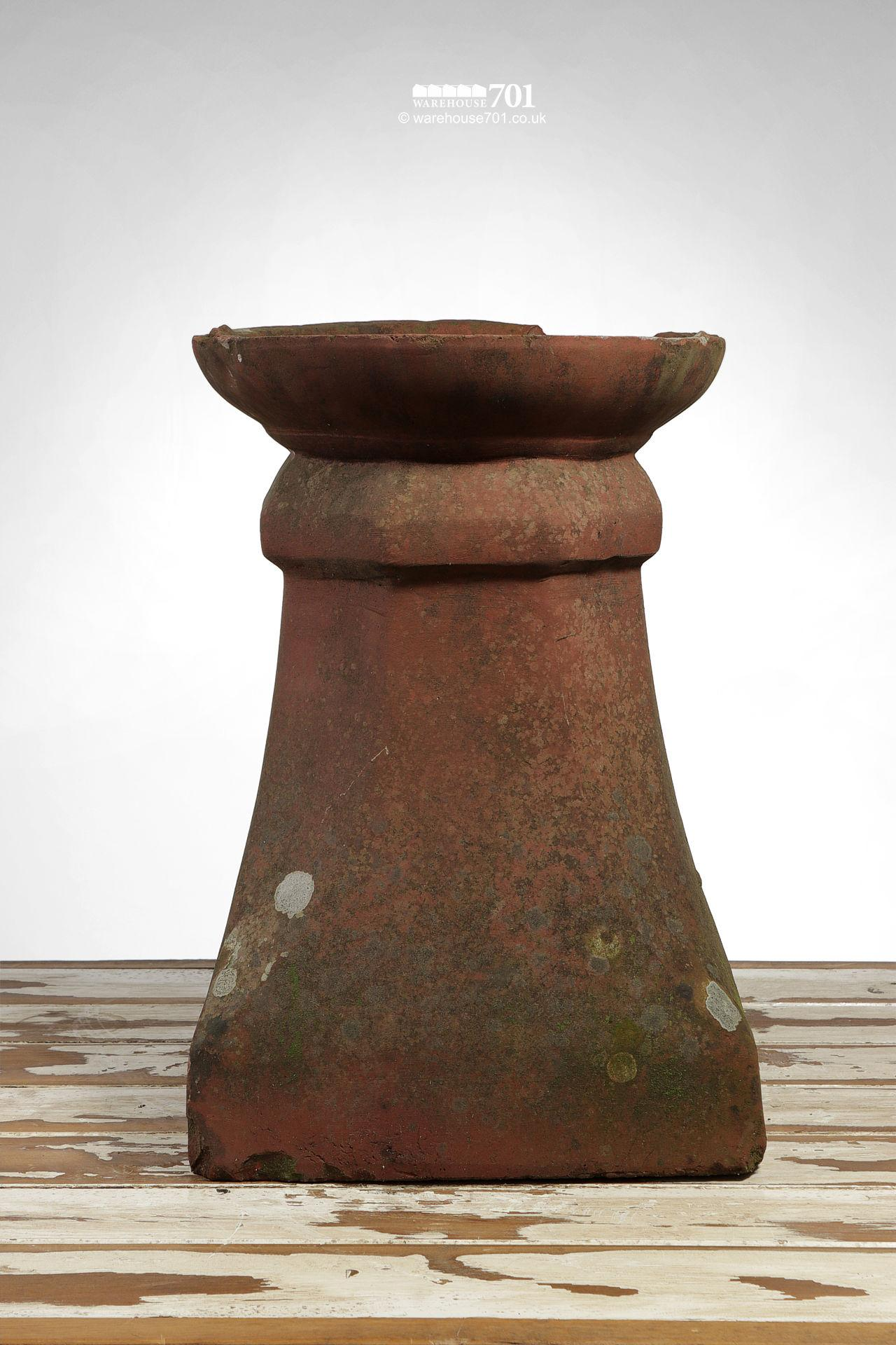 Old Dish-Top Terracotta Chimney Pot
