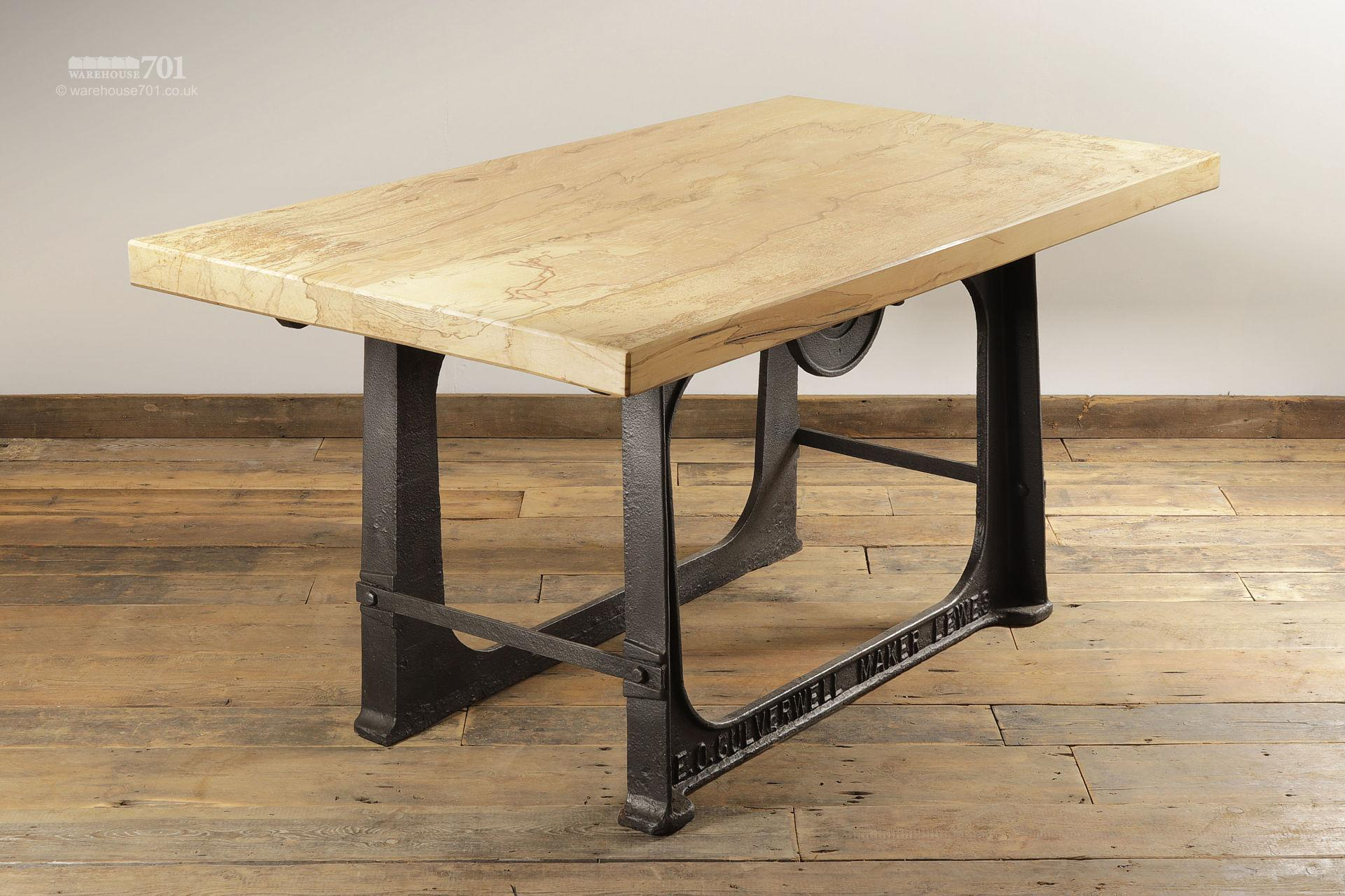 Hand-Made Spalted Beech Industrial Dining Table #2