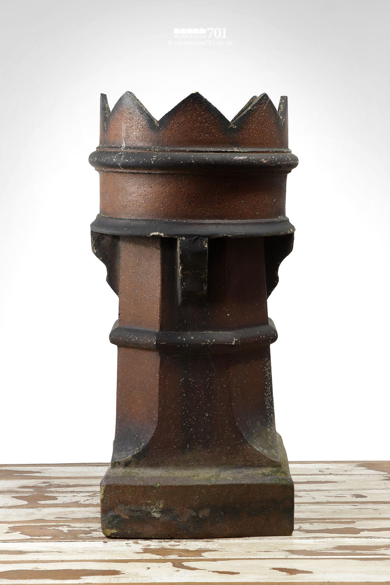 Pair of Old Salt Glazed Bishop Chimney Pots #2