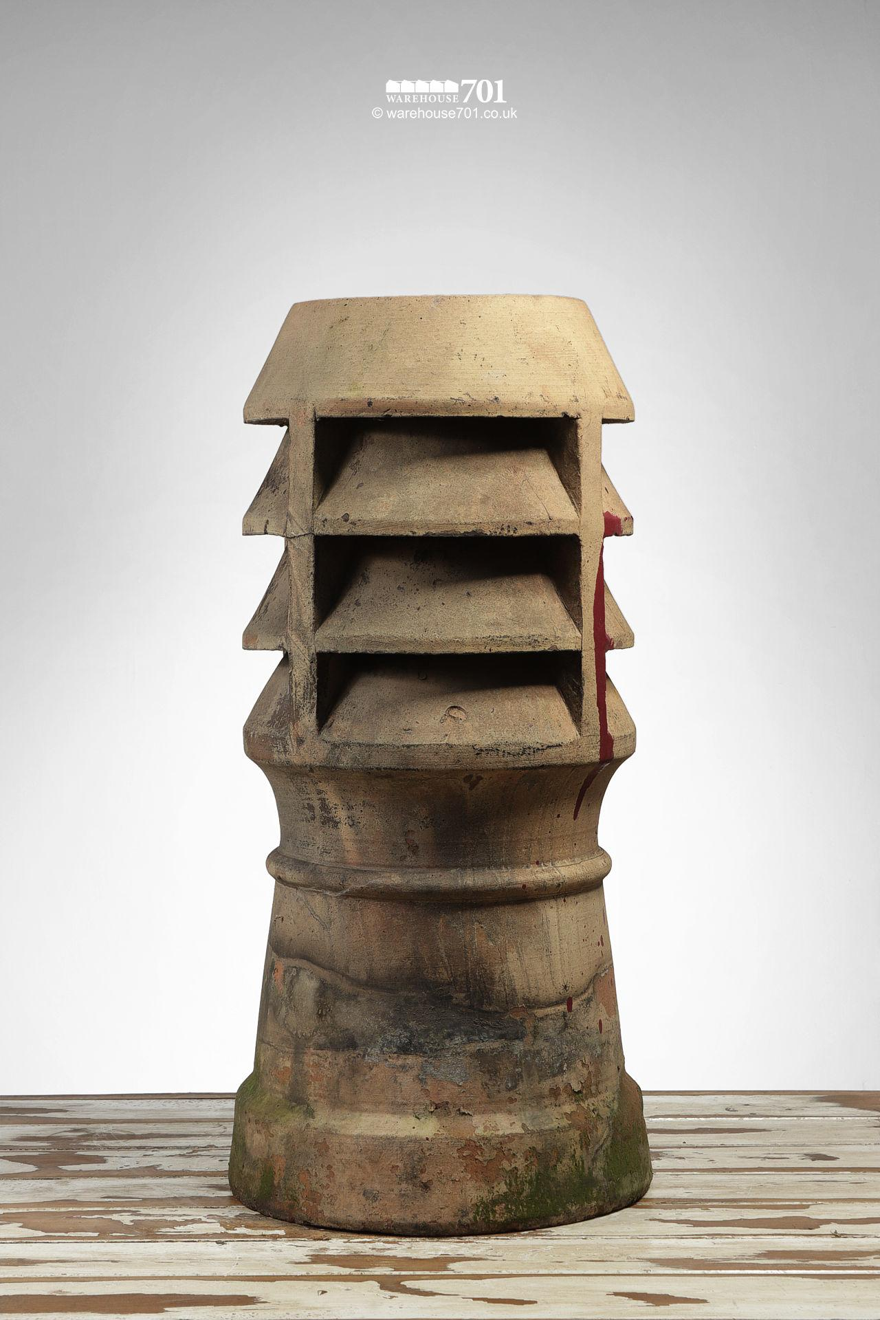 Reclaimed Buff Triple Louvre Chimney Pot #2