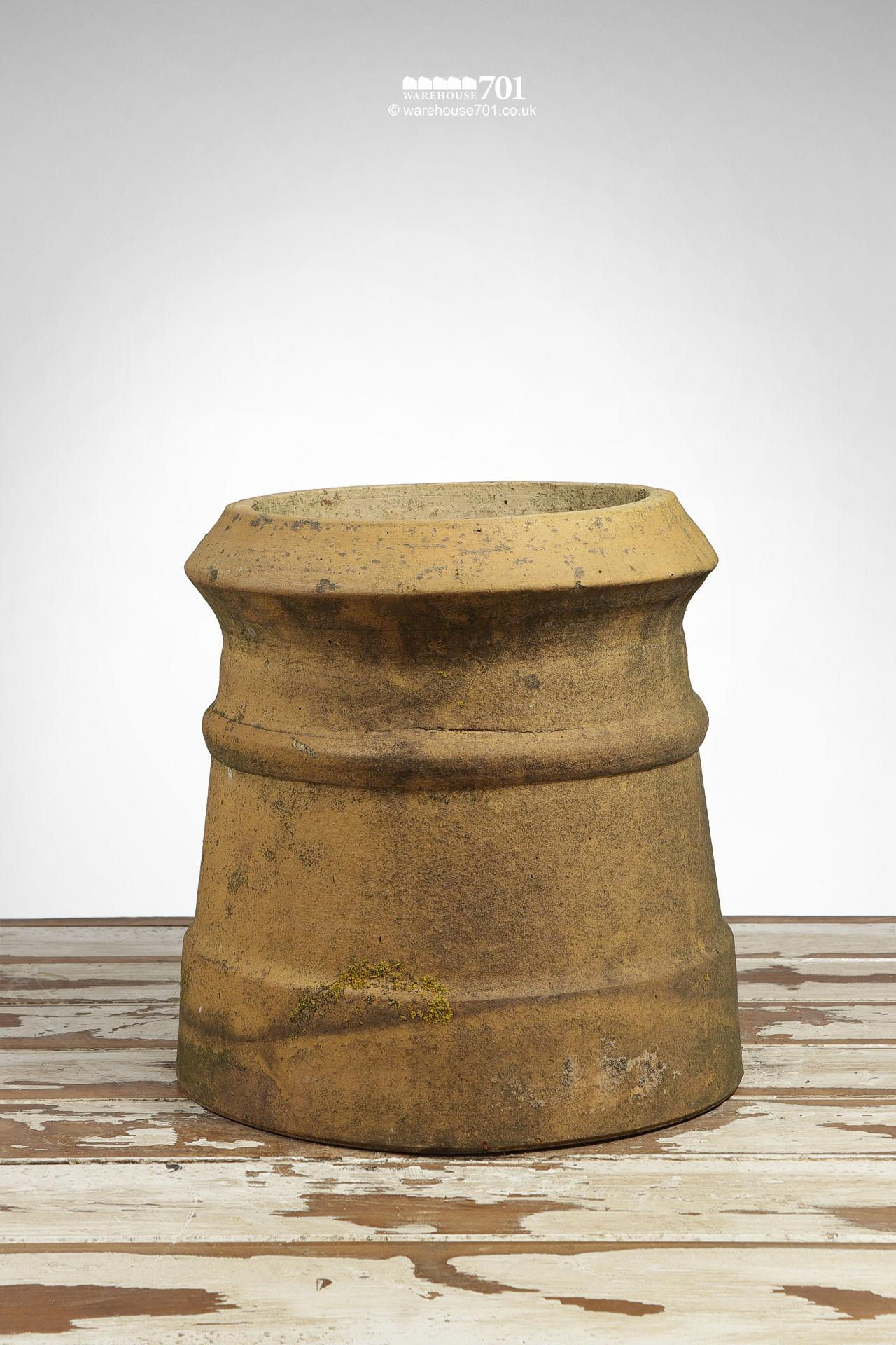 Reclaimed Pair of Small Buff Cannon Chimney Pots #5