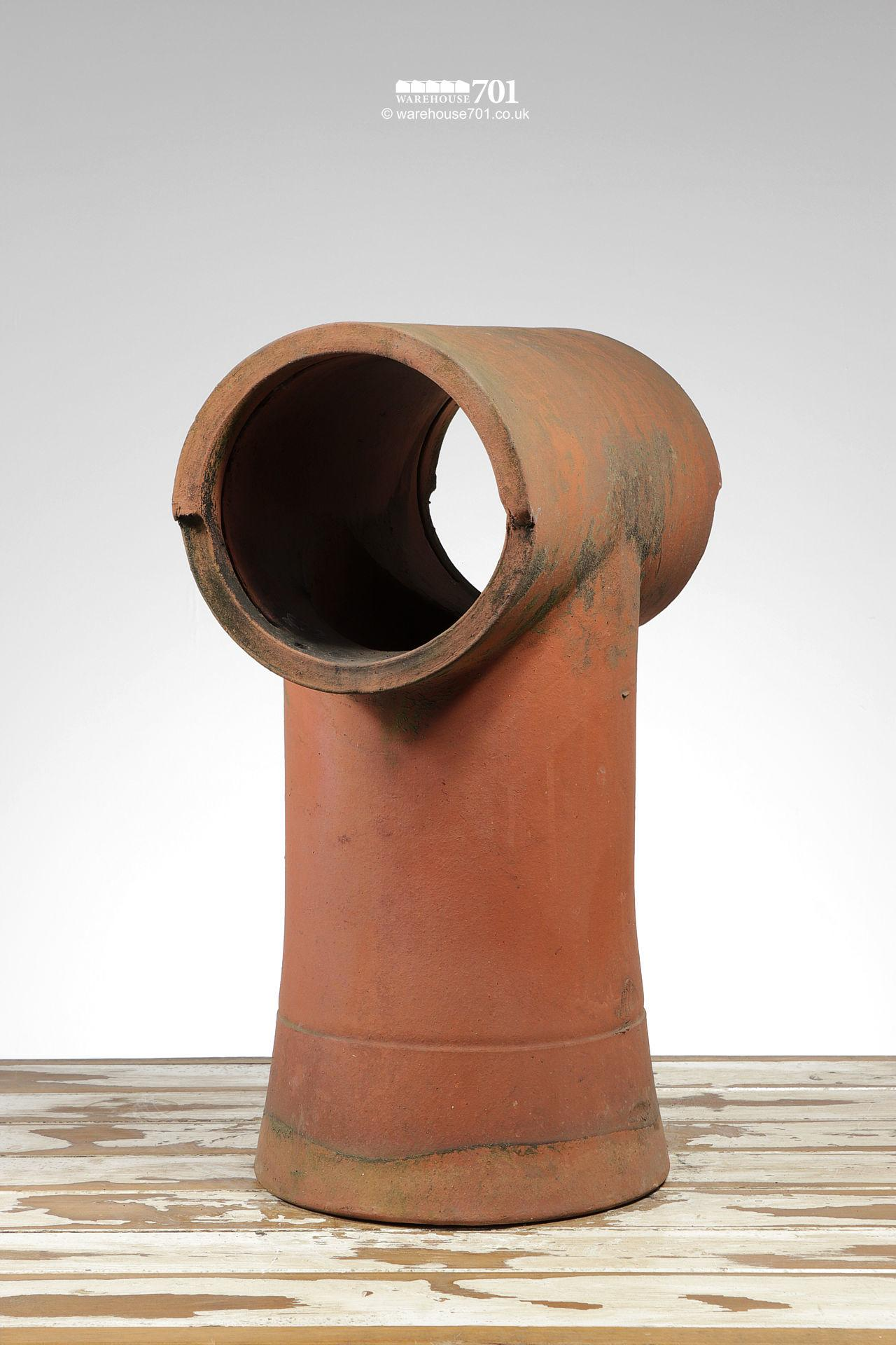 Reclaimed Tee-Top Terracotta Chimney Pot #3