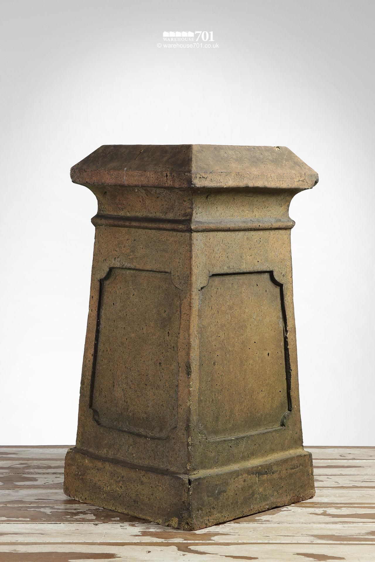 Used Boulton and Paul Buff Colour Square Chimney pot #1