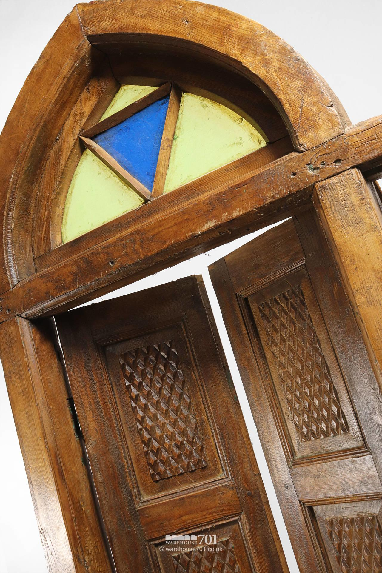 Reclaimed Middle-Eastern Carved Arch Top Doors or Shutters #4