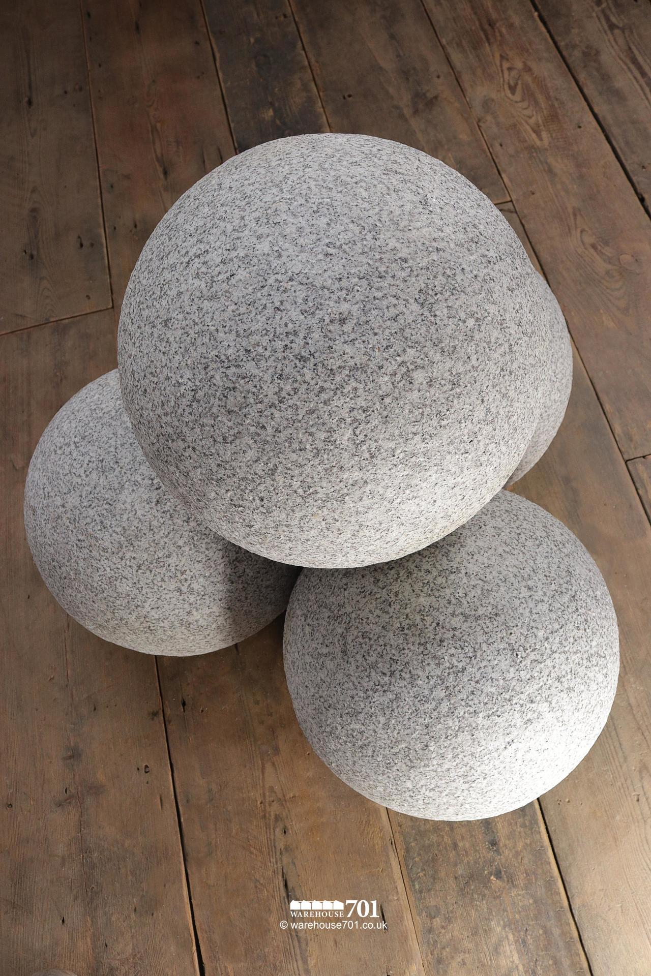 Granite Balls or Stone Spheres for Gate Pillars and Gardens #3