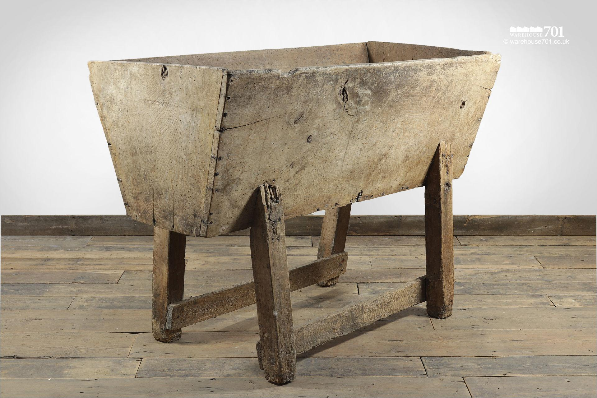 Old Traditional Hereford Elm Feeding Trough or Manger #7