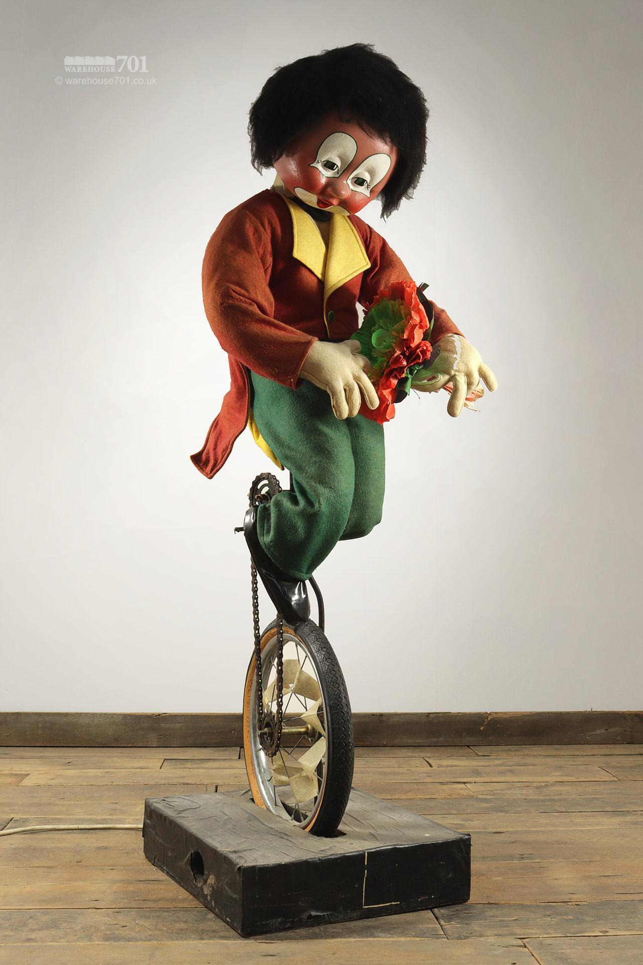 Reclaimed Clown on a Unicycle Shop Automaton