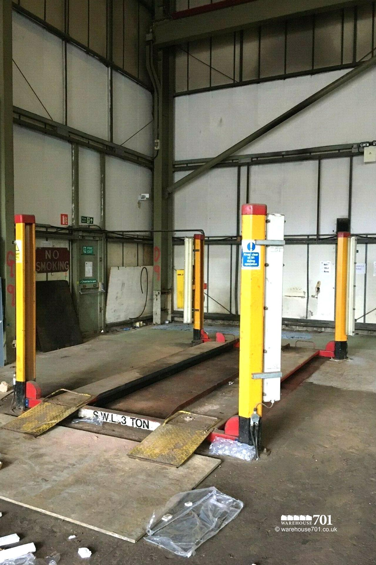4 Post Lifting Ramp By Laycock 3 Phase Working Condition