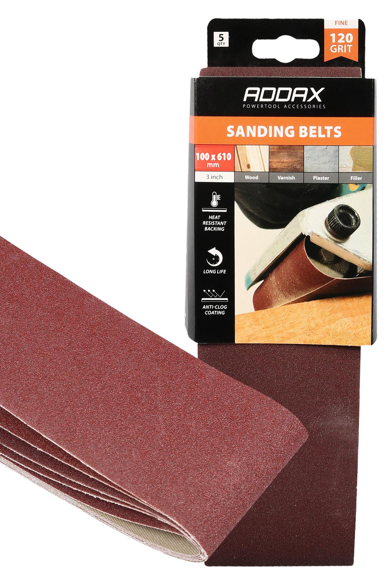 Addax Sanding Belts - Various Grit - Red #5