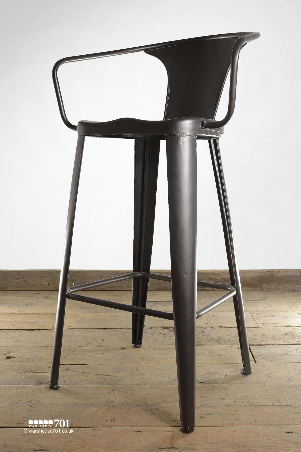 NEW handmade dark metal Bastille Chair, Cafe, Bistro or Counter Stool